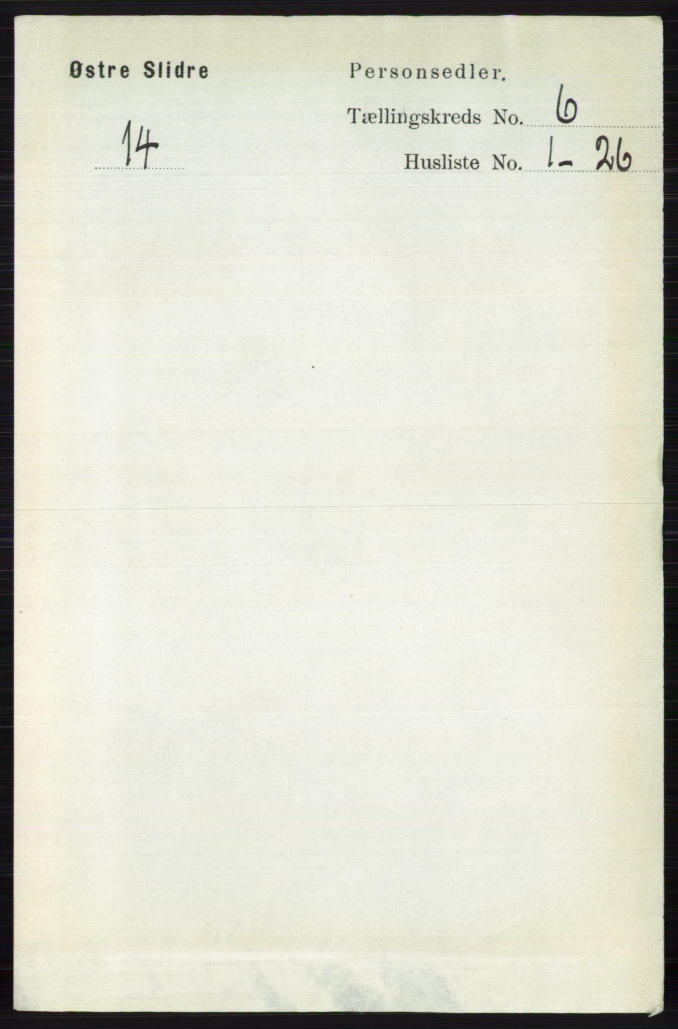 RA, Folketelling 1891 for 0544 Øystre Slidre herred, 1891, s. 1803
