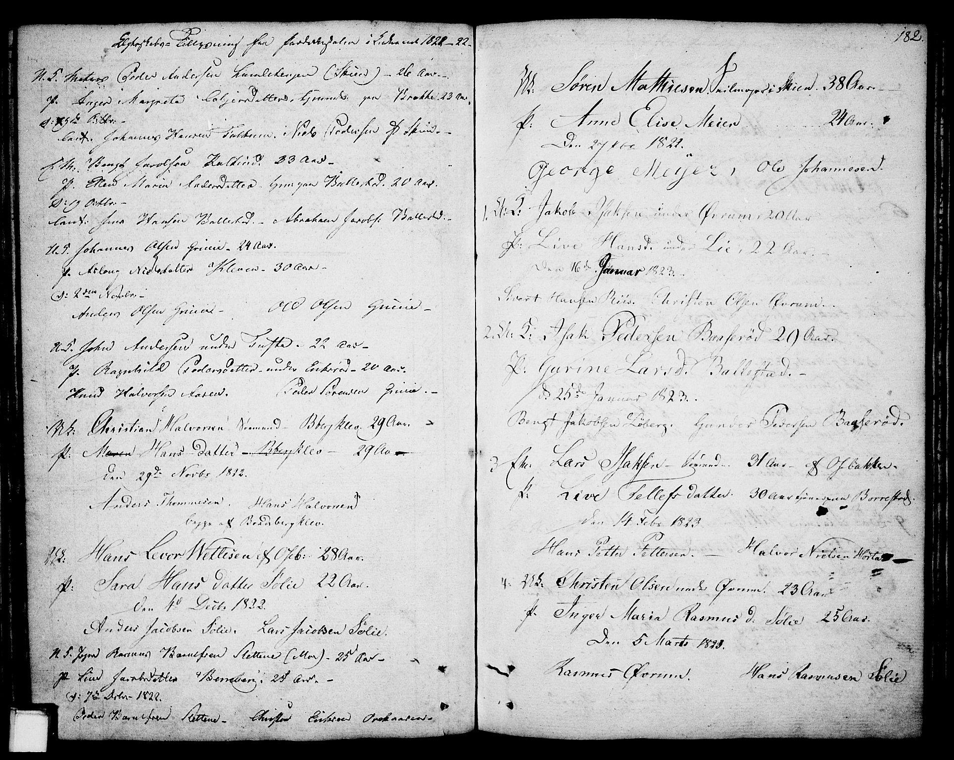 SAKO, Gjerpen kirkebøker, F/Fa/L0003: Ministerialbok nr. 3, 1796-1814, s. 182