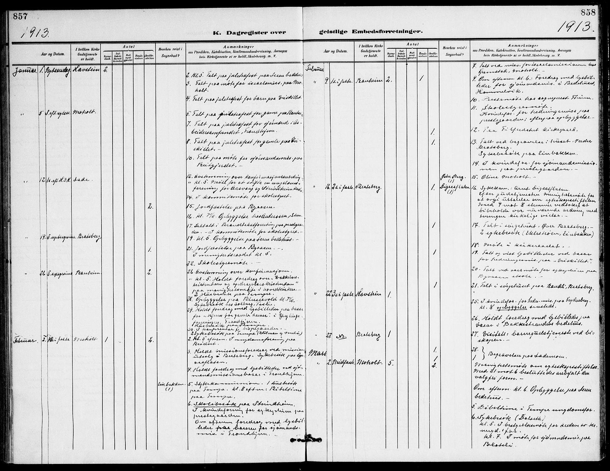 SAT, Ministerialprotokoller, klokkerbøker og fødselsregistre - Sør-Trøndelag, 607/L0320: Ministerialbok nr. 607A04, 1907-1915, s. 857-858