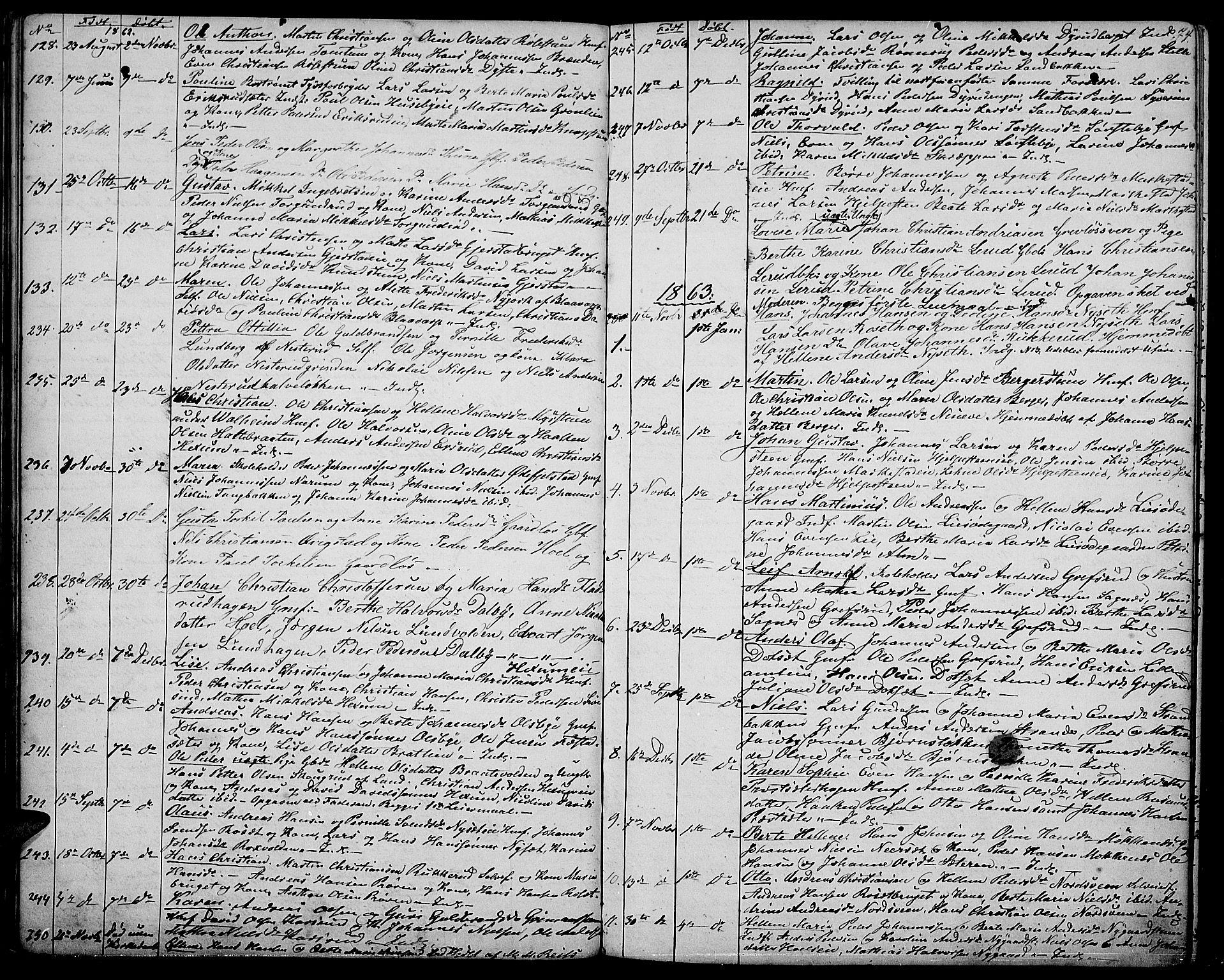 SAH, Vestre Toten prestekontor, Klokkerbok nr. 5, 1854-1870, s. 74
