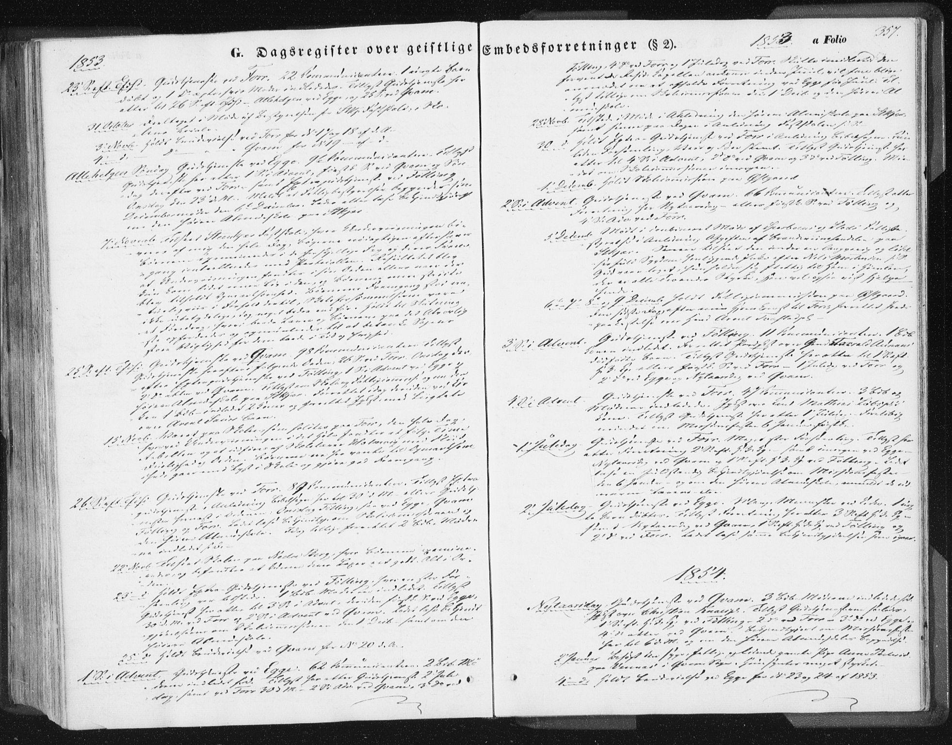 SAT, Ministerialprotokoller, klokkerbøker og fødselsregistre - Nord-Trøndelag, 746/L0446: Ministerialbok nr. 746A05, 1846-1859, s. 357