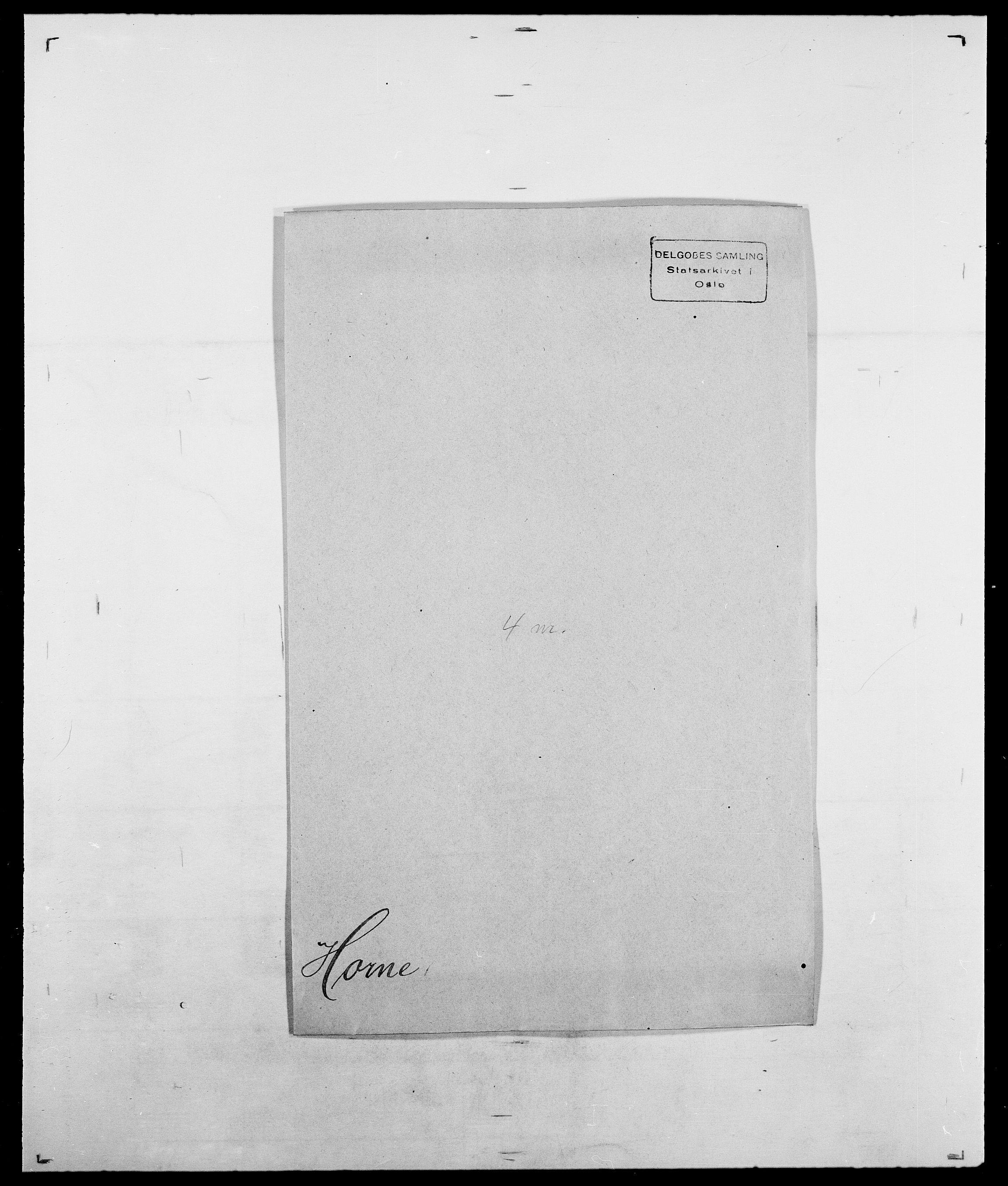 SAO, Delgobe, Charles Antoine - samling, D/Da/L0018: Hoch - Howert, s. 944