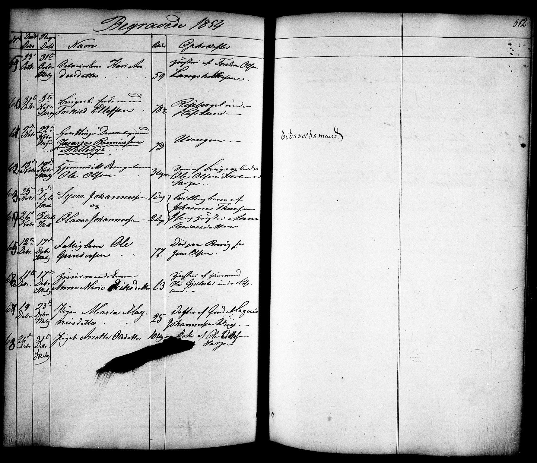 SAO, Skjeberg prestekontor Kirkebøker, F/Fa/L0006: Ministerialbok nr. I 6, 1846-1858, s. 512