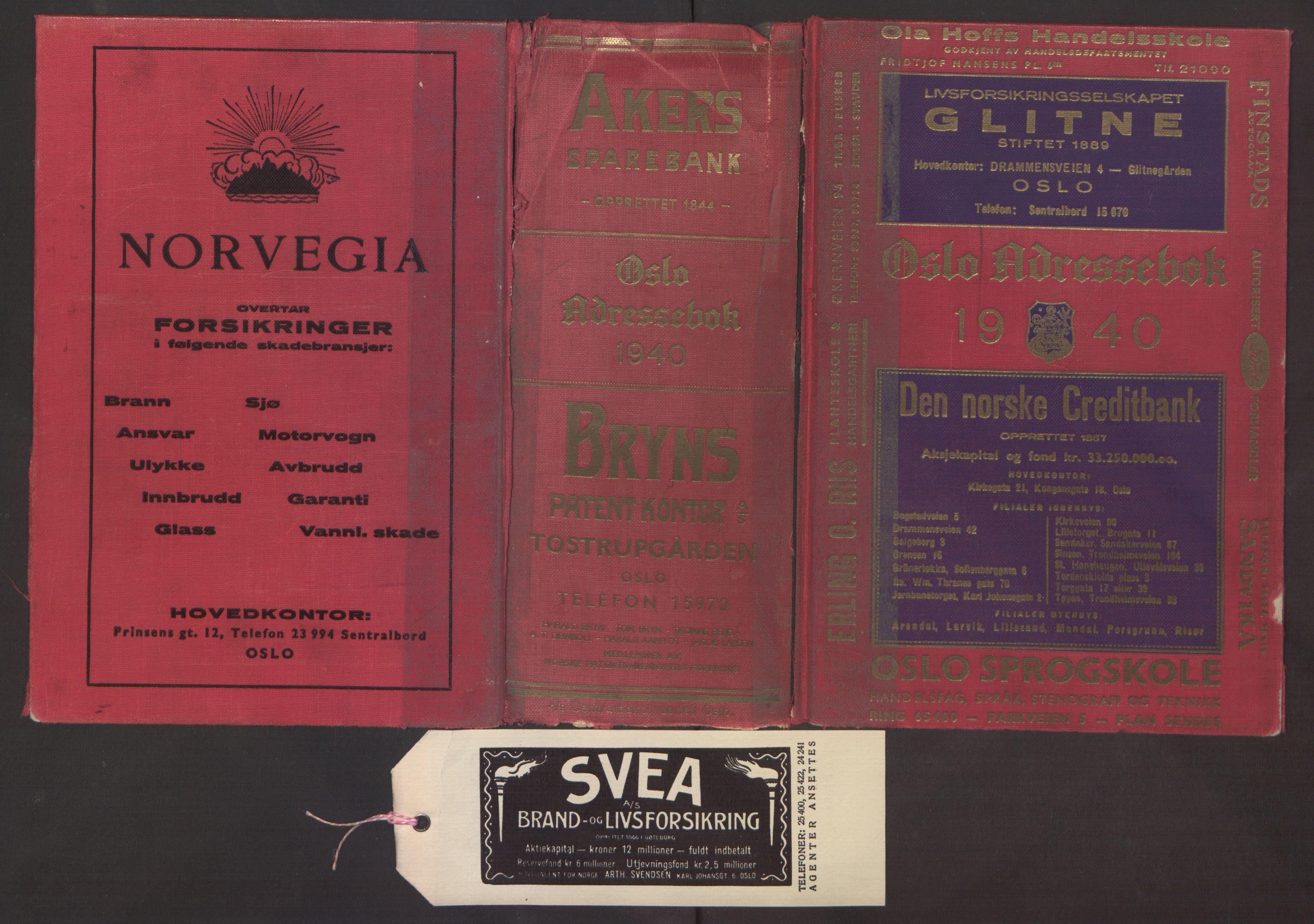 PUBL, Kristiania/Oslo adressebok, 1940, s. 1
