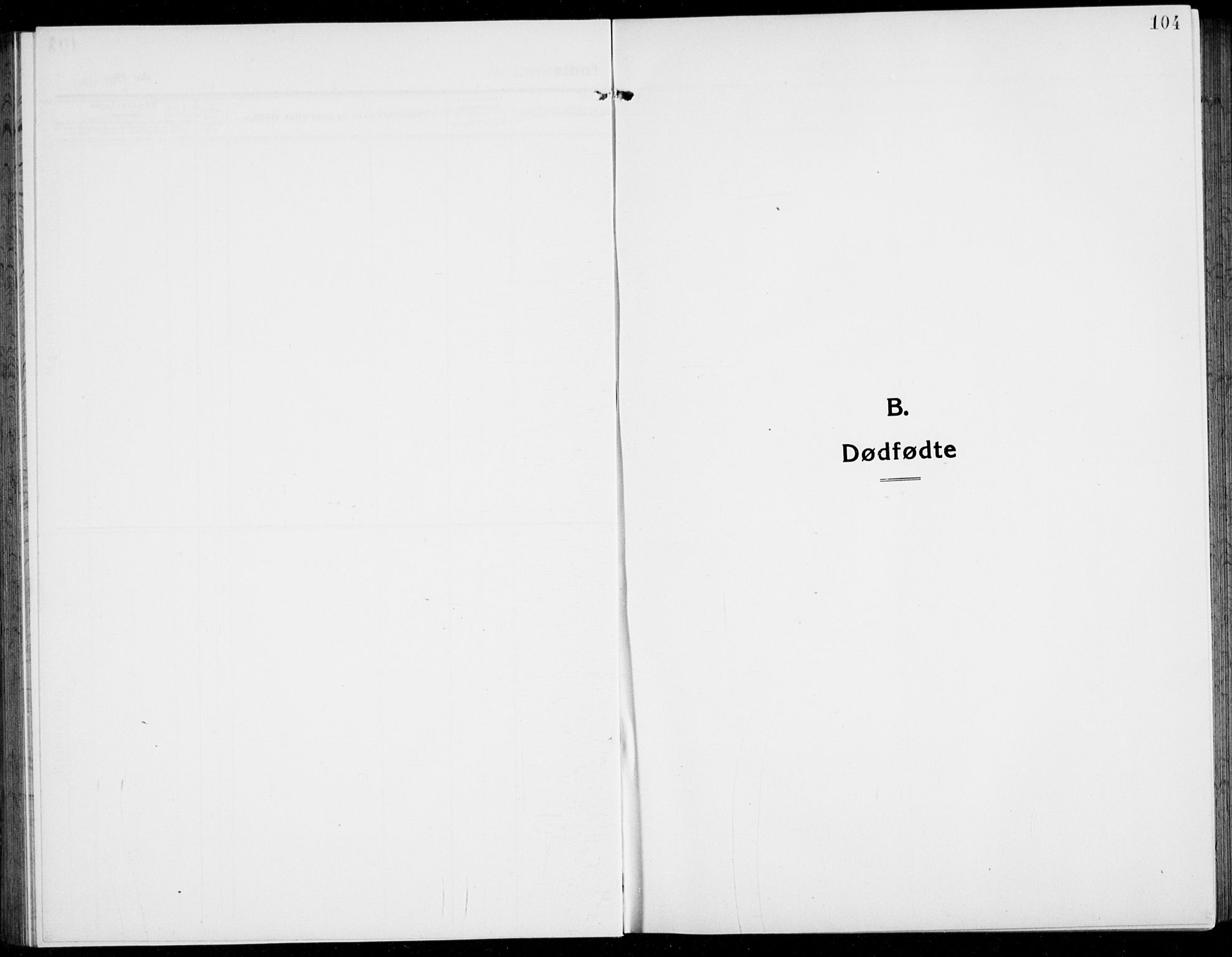 SAKO, Brunlanes kirkebøker, G/Ga/L0005: Klokkerbok nr. I 5, 1918-1941, s. 104
