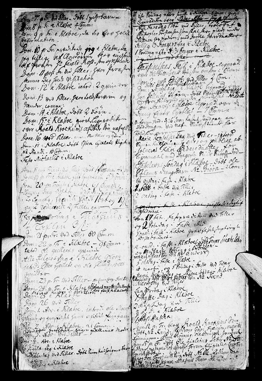 SAT, Ministerialprotokoller, klokkerbøker og fødselsregistre - Sør-Trøndelag, 618/L0436: Ministerialbok nr. 618A01, 1741-1749, s. 3