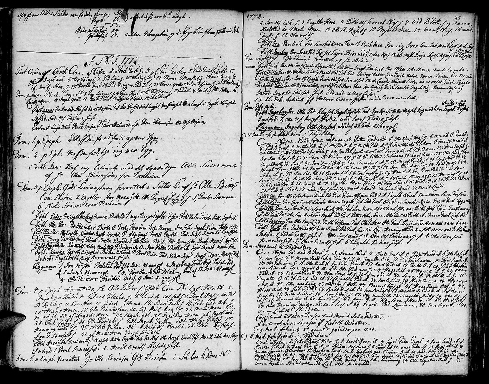 SAT, Ministerialprotokoller, klokkerbøker og fødselsregistre - Sør-Trøndelag, 695/L1138: Ministerialbok nr. 695A02 /1, 1757-1801, s. 48