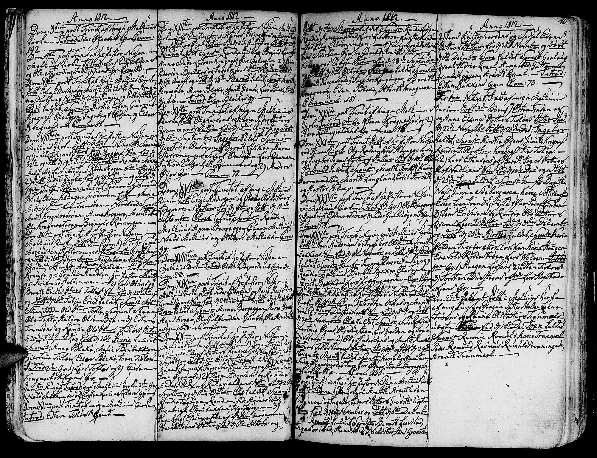 SAT, Ministerialprotokoller, klokkerbøker og fødselsregistre - Sør-Trøndelag, 691/L1061: Ministerialbok nr. 691A02 /1, 1768-1815, s. 40