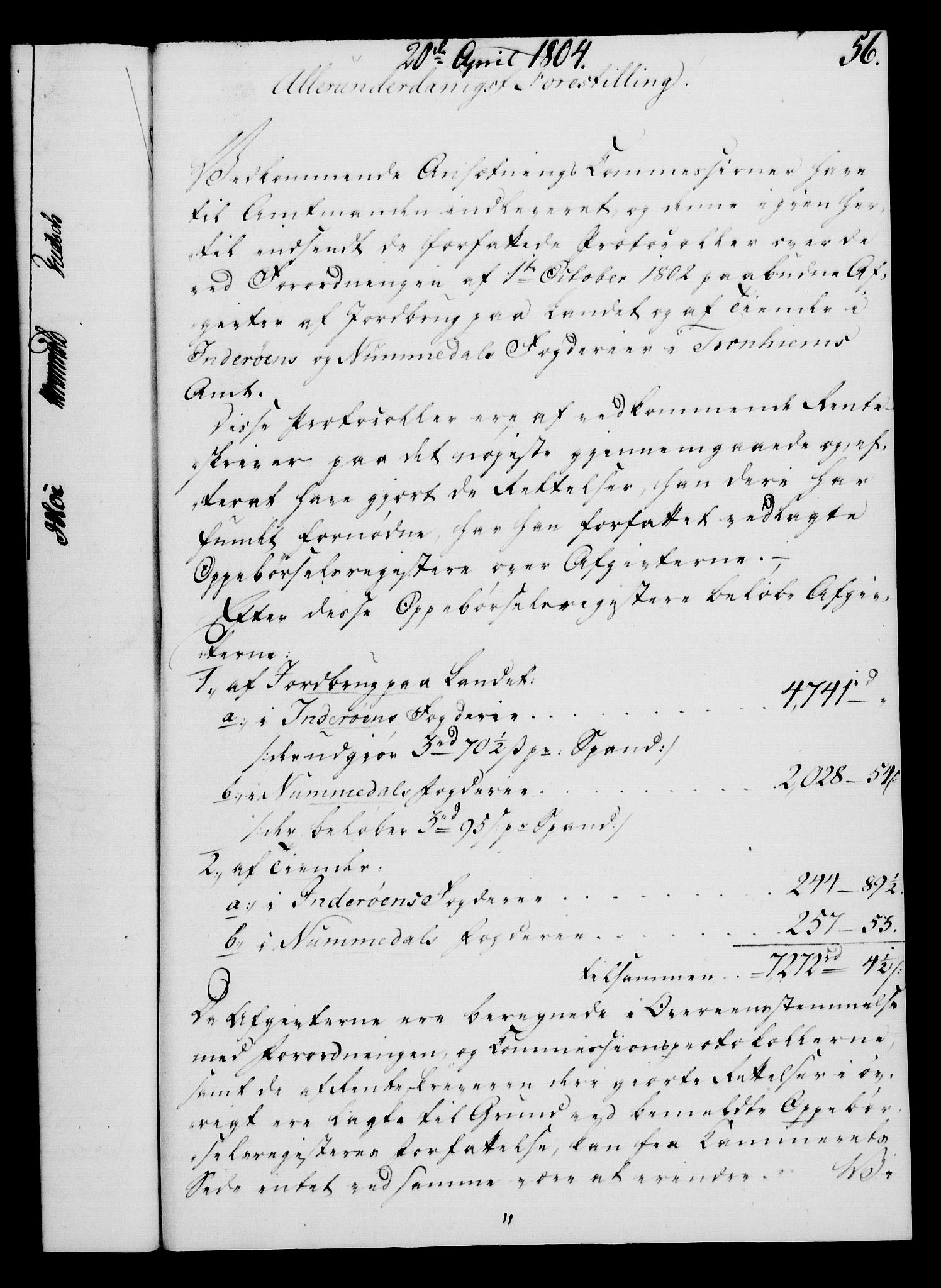 RA, Rentekammeret, Kammerkanselliet, G/Gf/Gfa/L0086: Norsk relasjons- og resolusjonsprotokoll (merket RK 52.86), 1804, s. 334