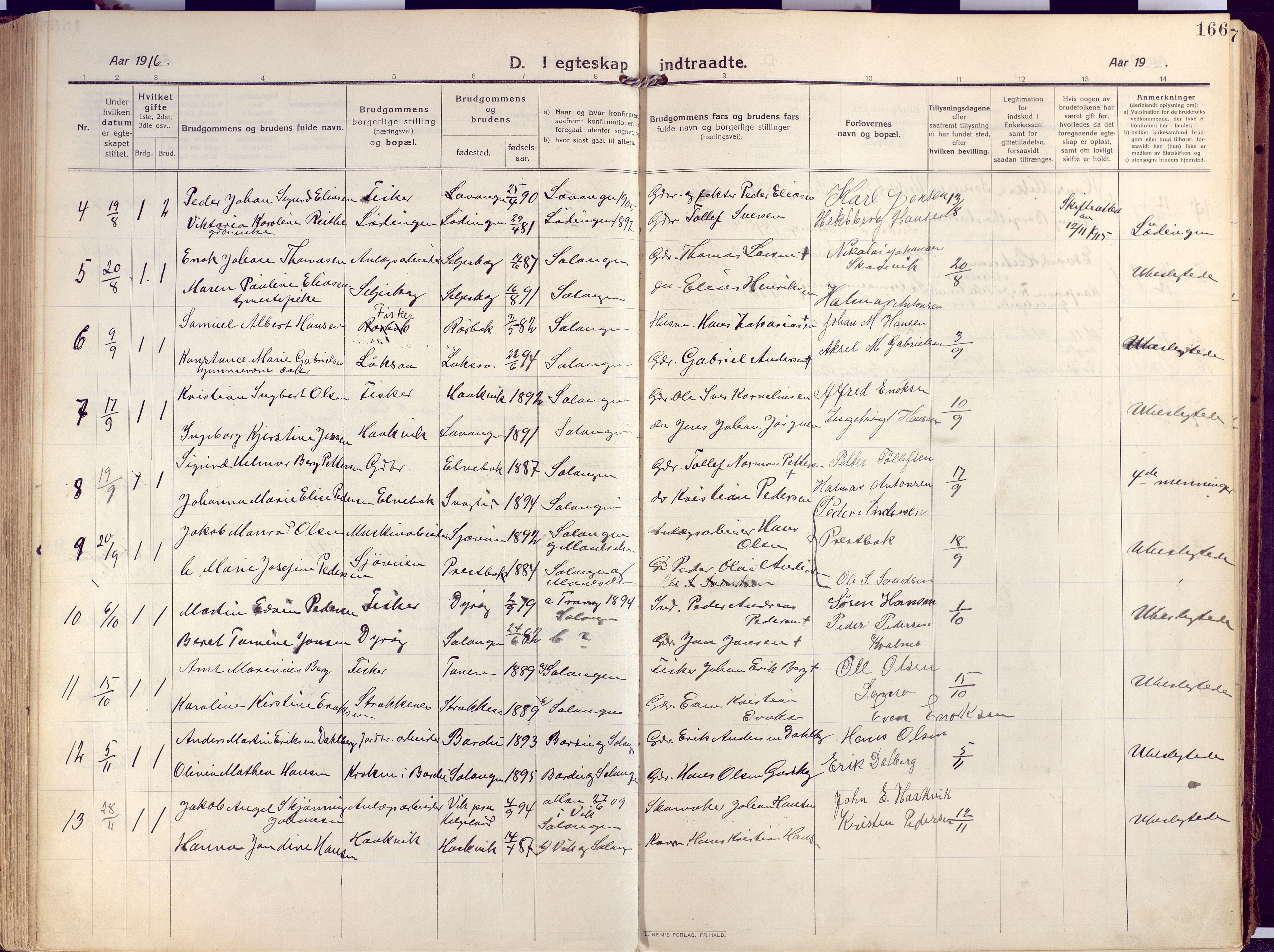 SATØ, Salangen sokneprestembete, Ministerialbok nr. 4, 1912-1927, s. 166