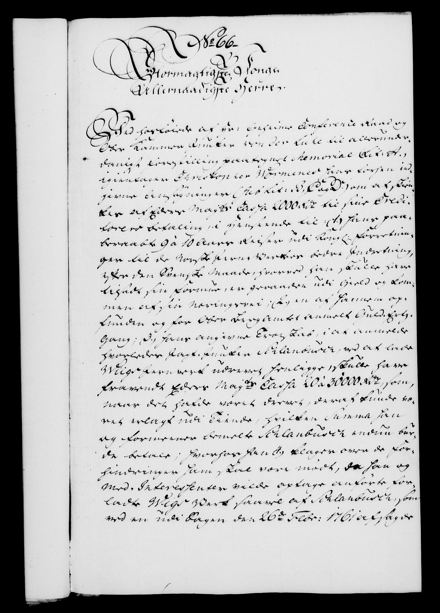 RA, Rentekammeret, Kammerkanselliet, G/Gf/Gfa/L0047: Norsk relasjons- og resolusjonsprotokoll (merket RK 52.47), 1765, s. 292