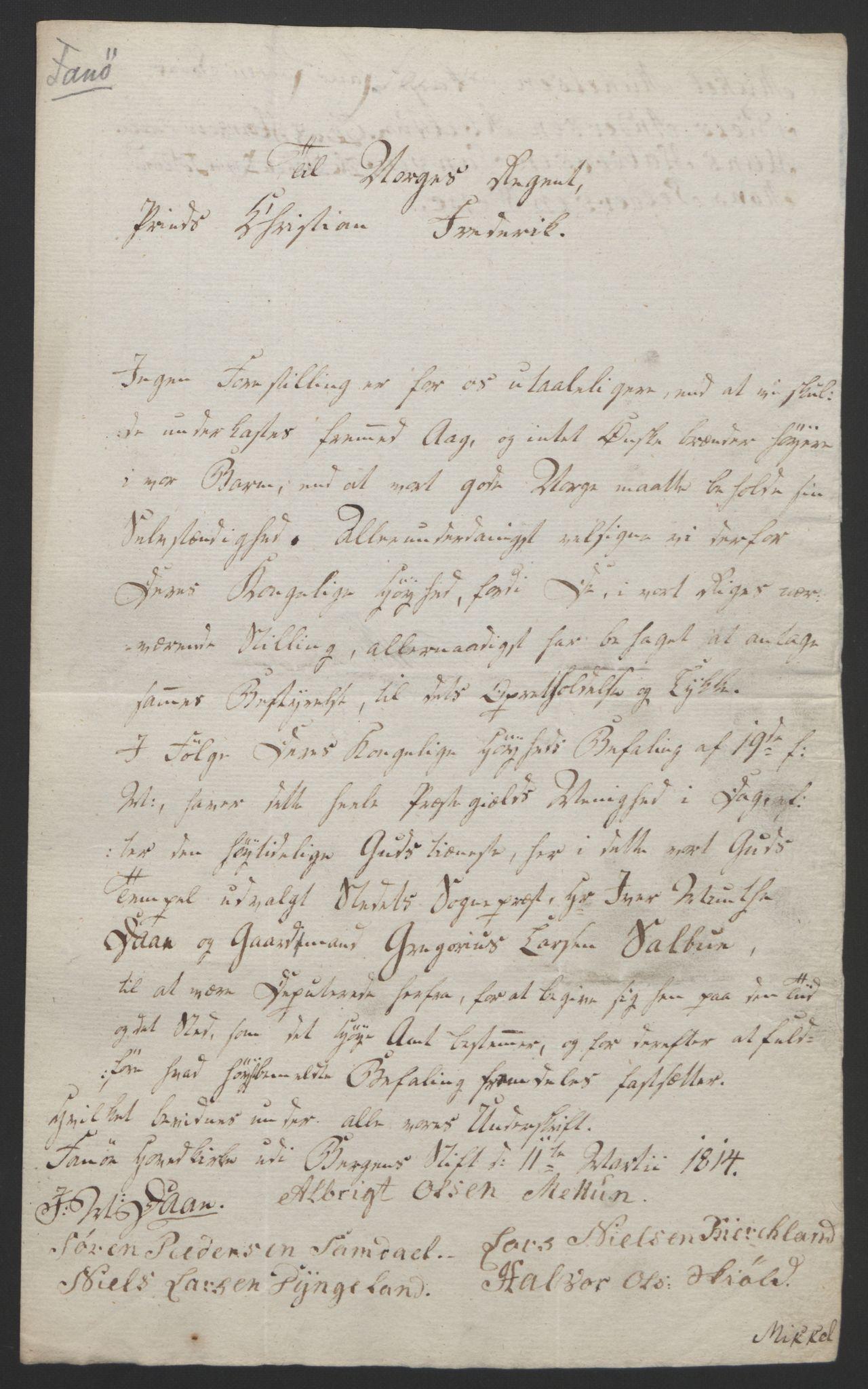 RA, Statsrådssekretariatet, D/Db/L0008: Fullmakter for Eidsvollsrepresentantene i 1814. , 1814, s. 271