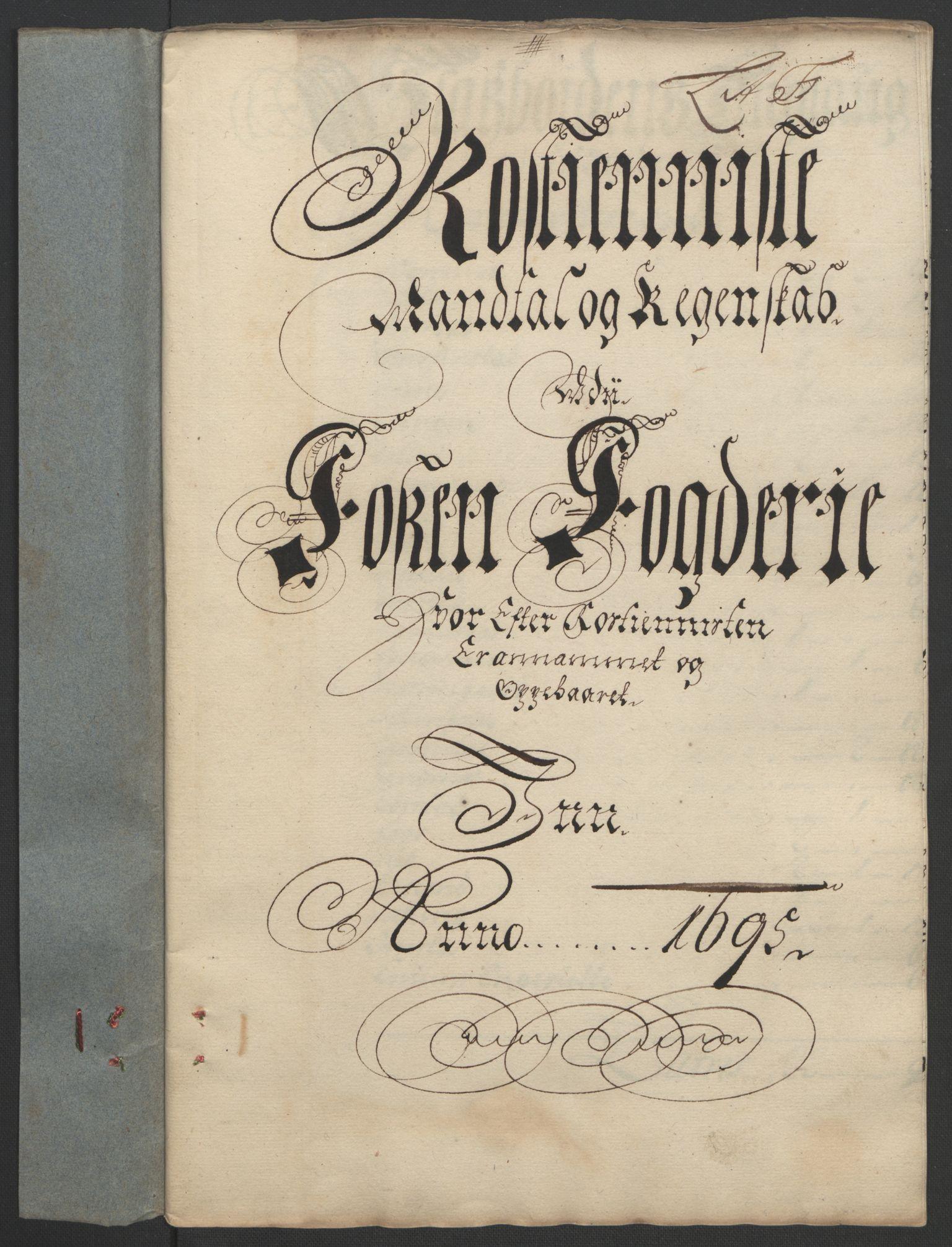 RA, Rentekammeret inntil 1814, Reviderte regnskaper, Fogderegnskap, R57/L3851: Fogderegnskap Fosen, 1695-1696, s. 102