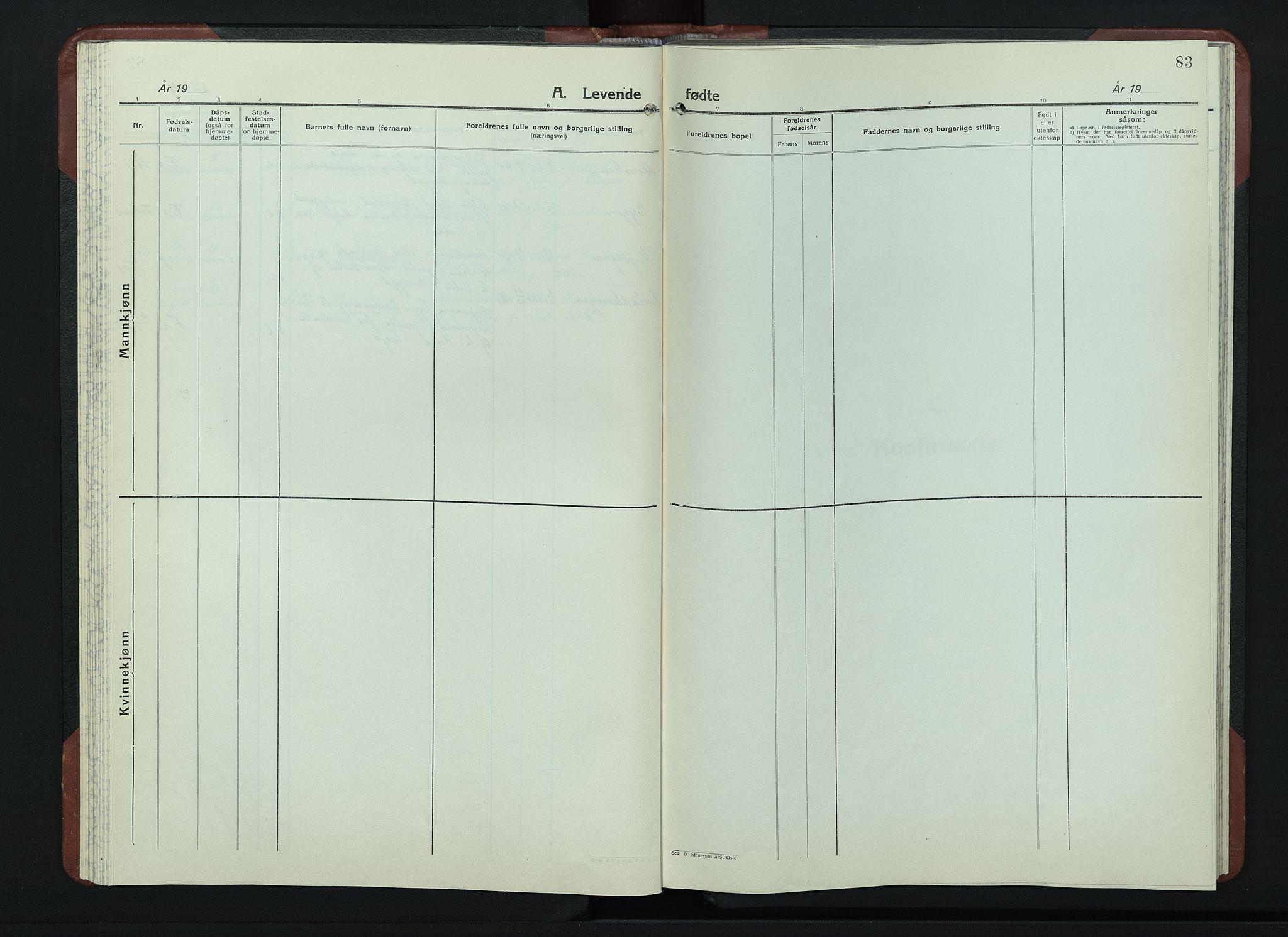 SAH, Sør-Fron prestekontor, H/Ha/Hab/L0006: Klokkerbok nr. 6, 1933-1948, s. 83