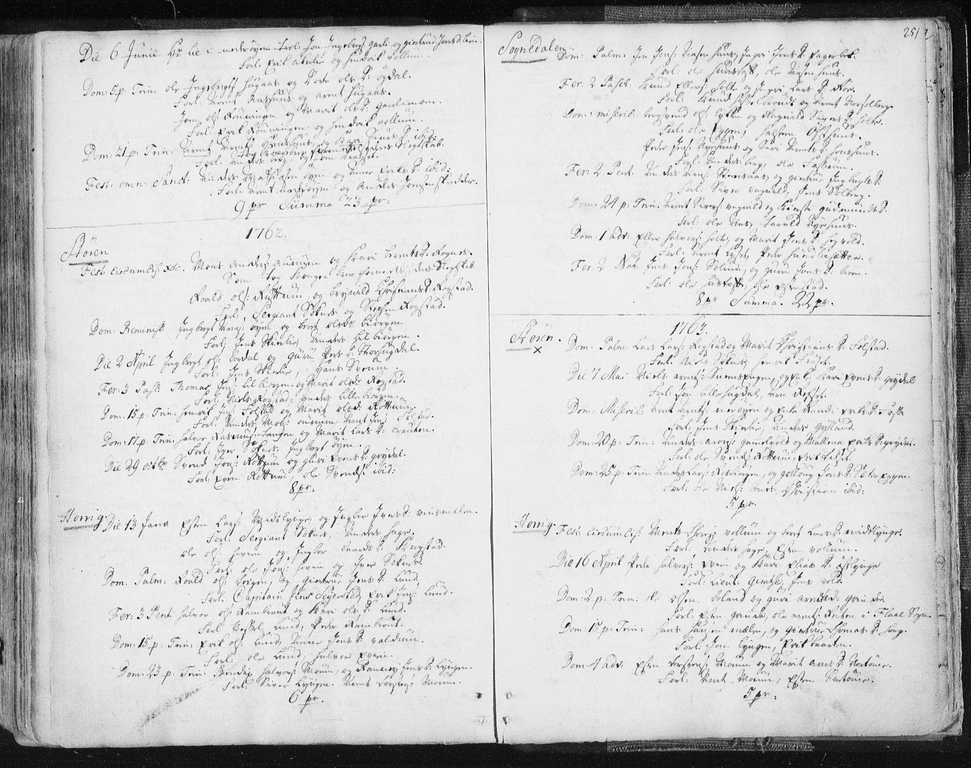 SAT, Ministerialprotokoller, klokkerbøker og fødselsregistre - Sør-Trøndelag, 687/L0991: Ministerialbok nr. 687A02, 1747-1790, s. 251