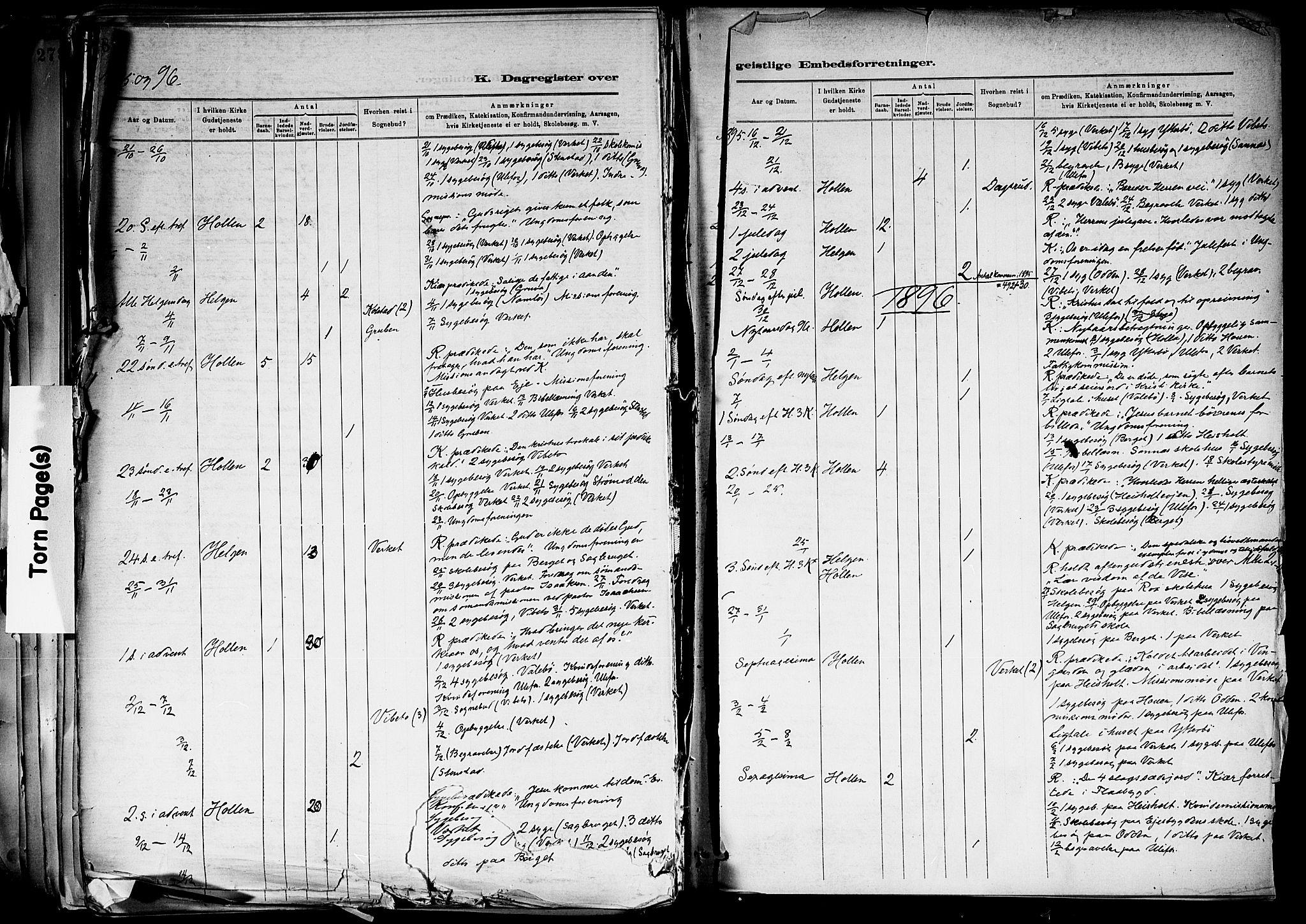 SAKO, Holla kirkebøker, F/Fa/L0008: Ministerialbok nr. 8, 1882-1897, s. 458