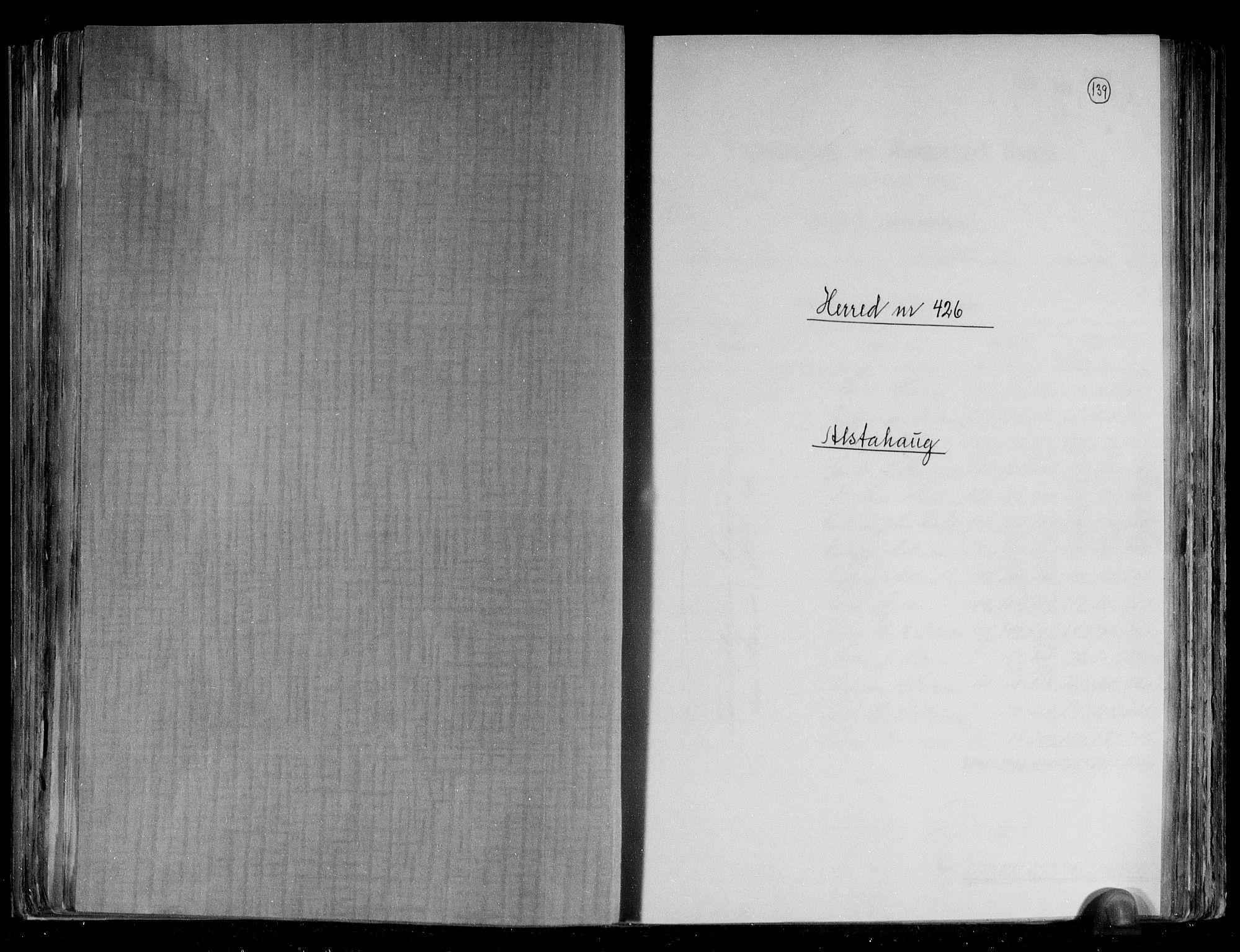 RA, Folketelling 1891 for 1820 Alstahaug herred, 1891, s. 1