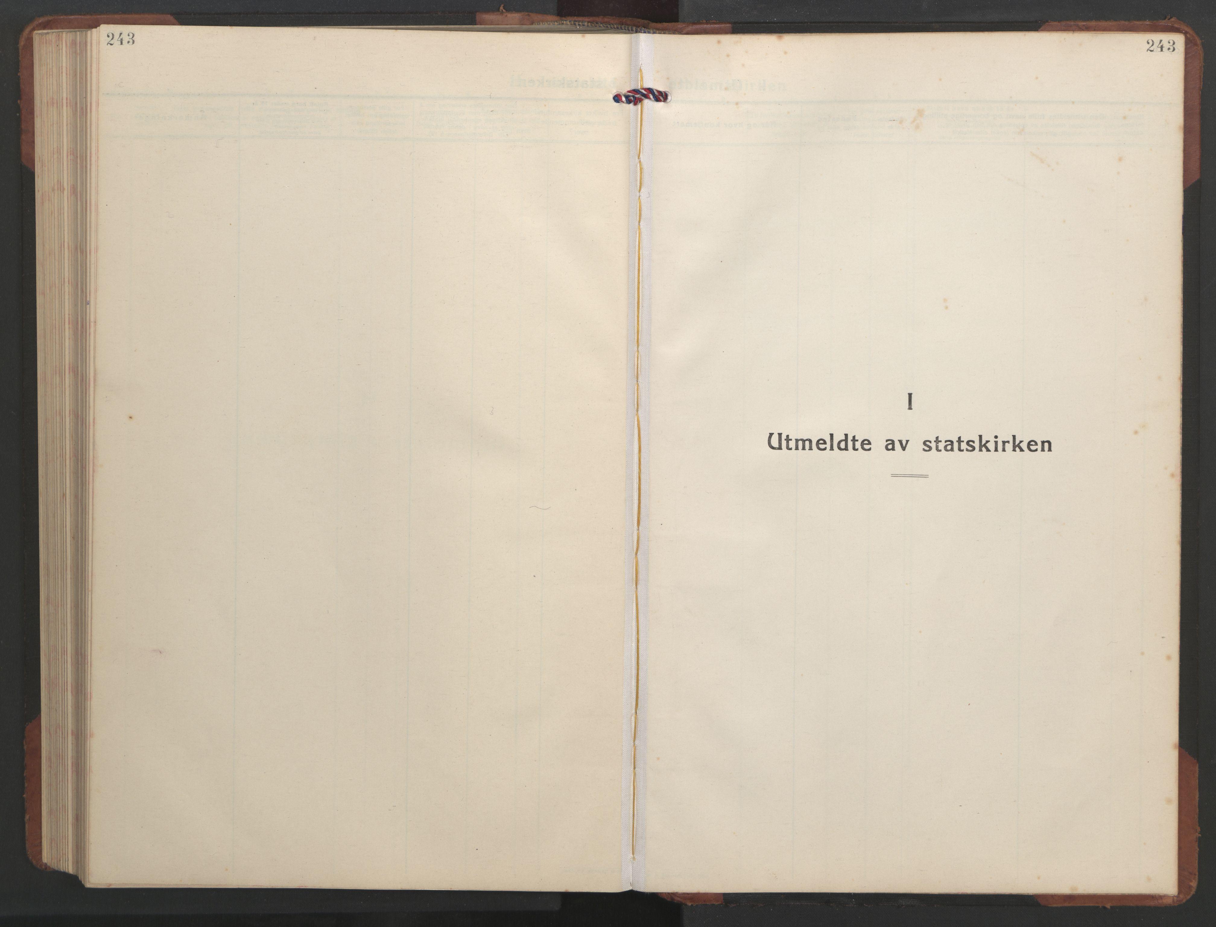 SAT, Ministerialprotokoller, klokkerbøker og fødselsregistre - Sør-Trøndelag, 637/L0564: Klokkerbok nr. 637C05, 1928-1968, s. 243