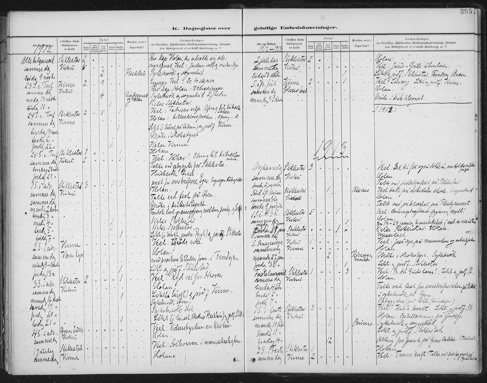 SAT, Ministerialprotokoller, klokkerbøker og fødselsregistre - Nord-Trøndelag, 723/L0246: Ministerialbok nr. 723A15, 1900-1917, s. 395