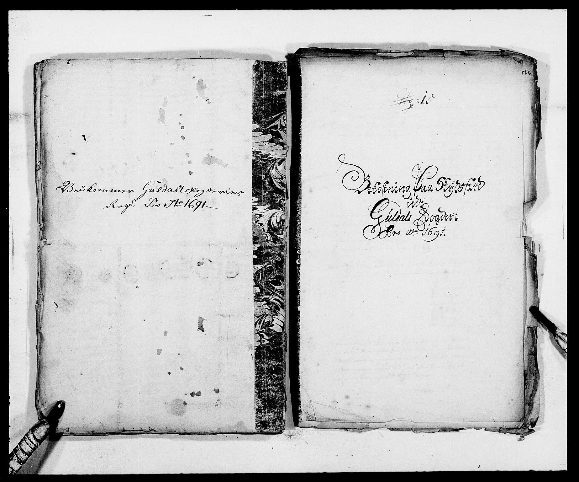 RA, Rentekammeret inntil 1814, Reviderte regnskaper, Fogderegnskap, R59/L3941: Fogderegnskap Gauldal, 1691, s. 266
