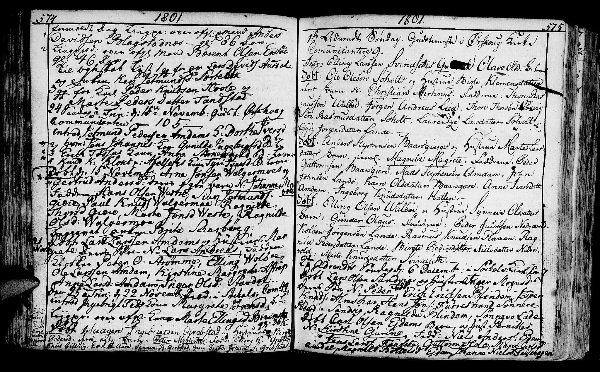 SAT, Ministerialprotokoller, klokkerbøker og fødselsregistre - Møre og Romsdal, 522/L0308: Ministerialbok nr. 522A03, 1773-1809, s. 574-575
