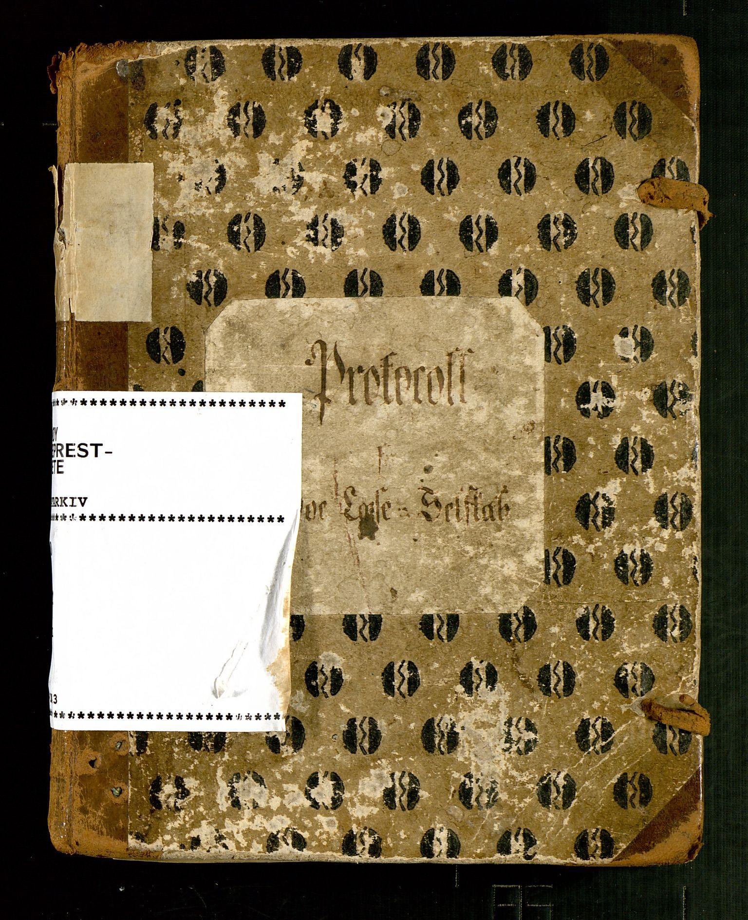 SAST, Pa 0440 - Finnøy Leseselskap, A/L0001: PROTOKOL, 1800-1843