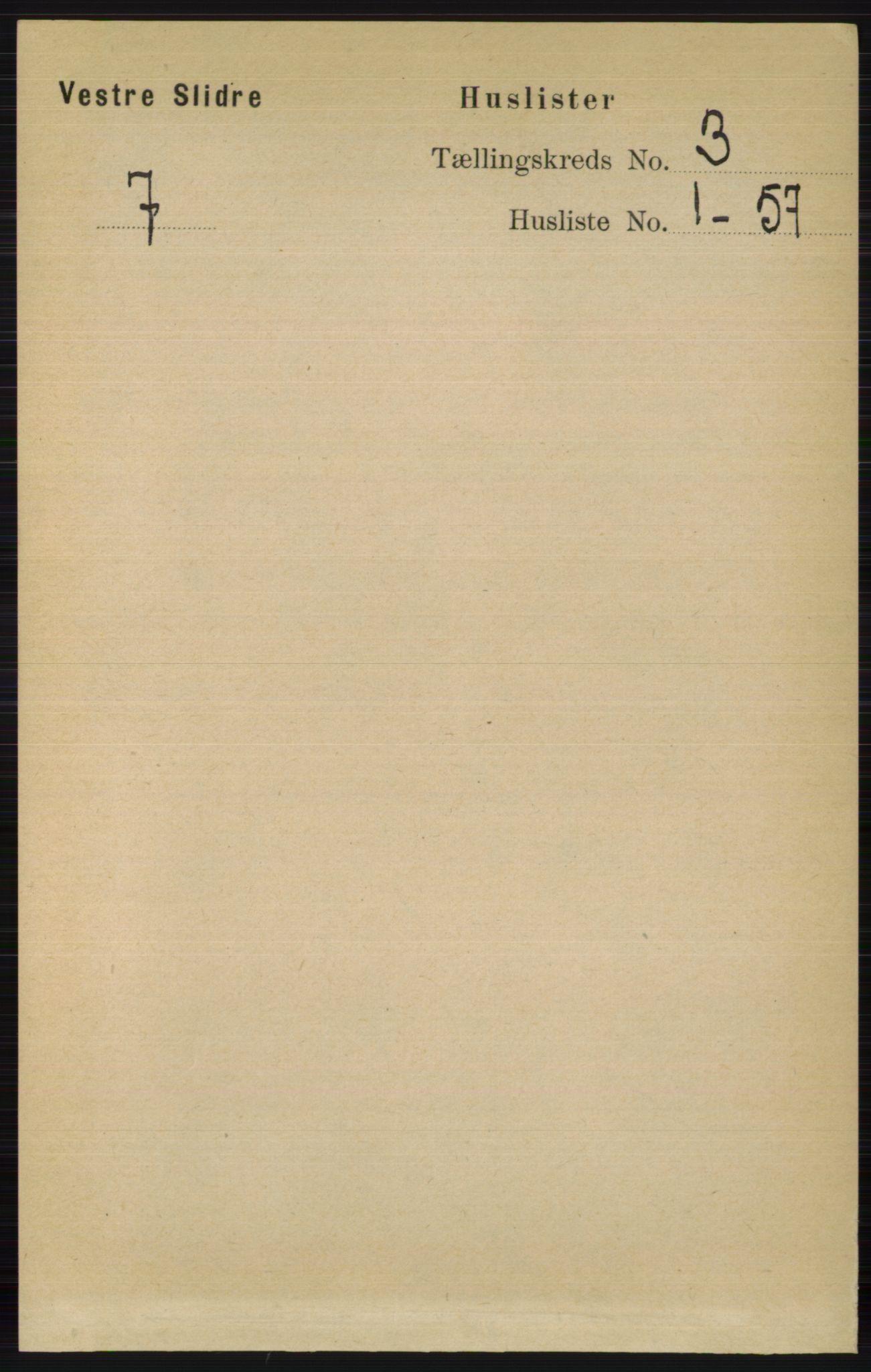 RA, Folketelling 1891 for 0543 Vestre Slidre herred, 1891, s. 763