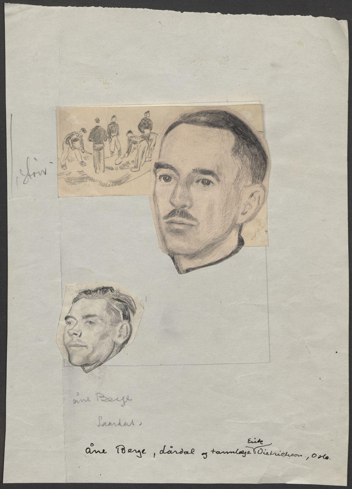 RA, Grøgaard, Joachim, F/L0002: Tegninger og tekster, 1942-1945, s. 100