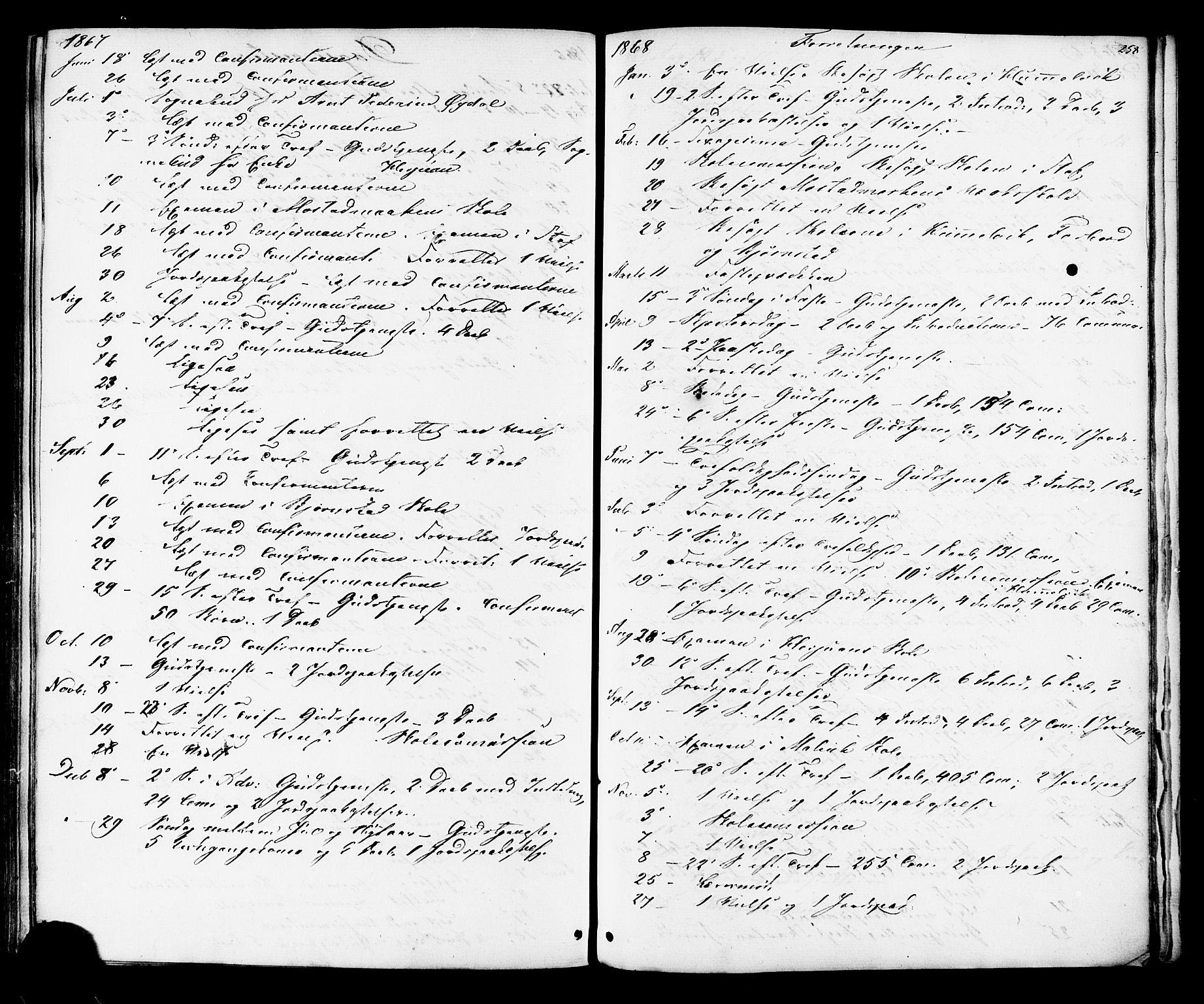 SAT, Ministerialprotokoller, klokkerbøker og fødselsregistre - Sør-Trøndelag, 616/L0409: Ministerialbok nr. 616A06, 1865-1877, s. 258