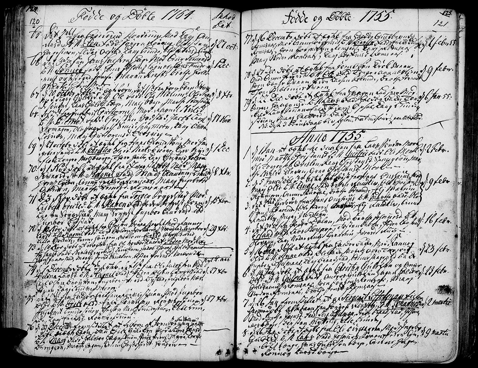 SAH, Ringebu prestekontor, Ministerialbok nr. 2, 1734-1780, s. 120-121