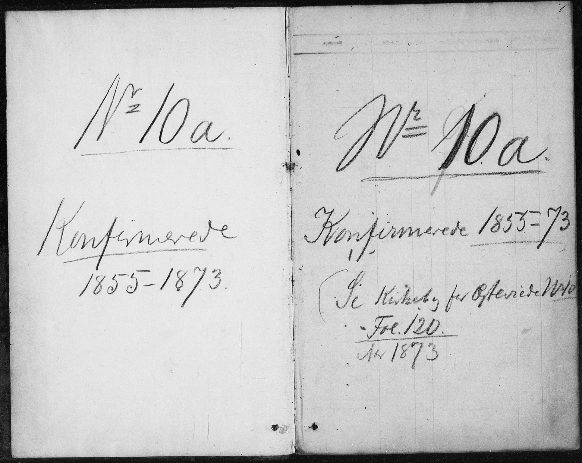 SAKO, Sannidal kirkebøker, F/Fa/L0009: Ministerialbok nr. 9, 1855-1873, s. 1
