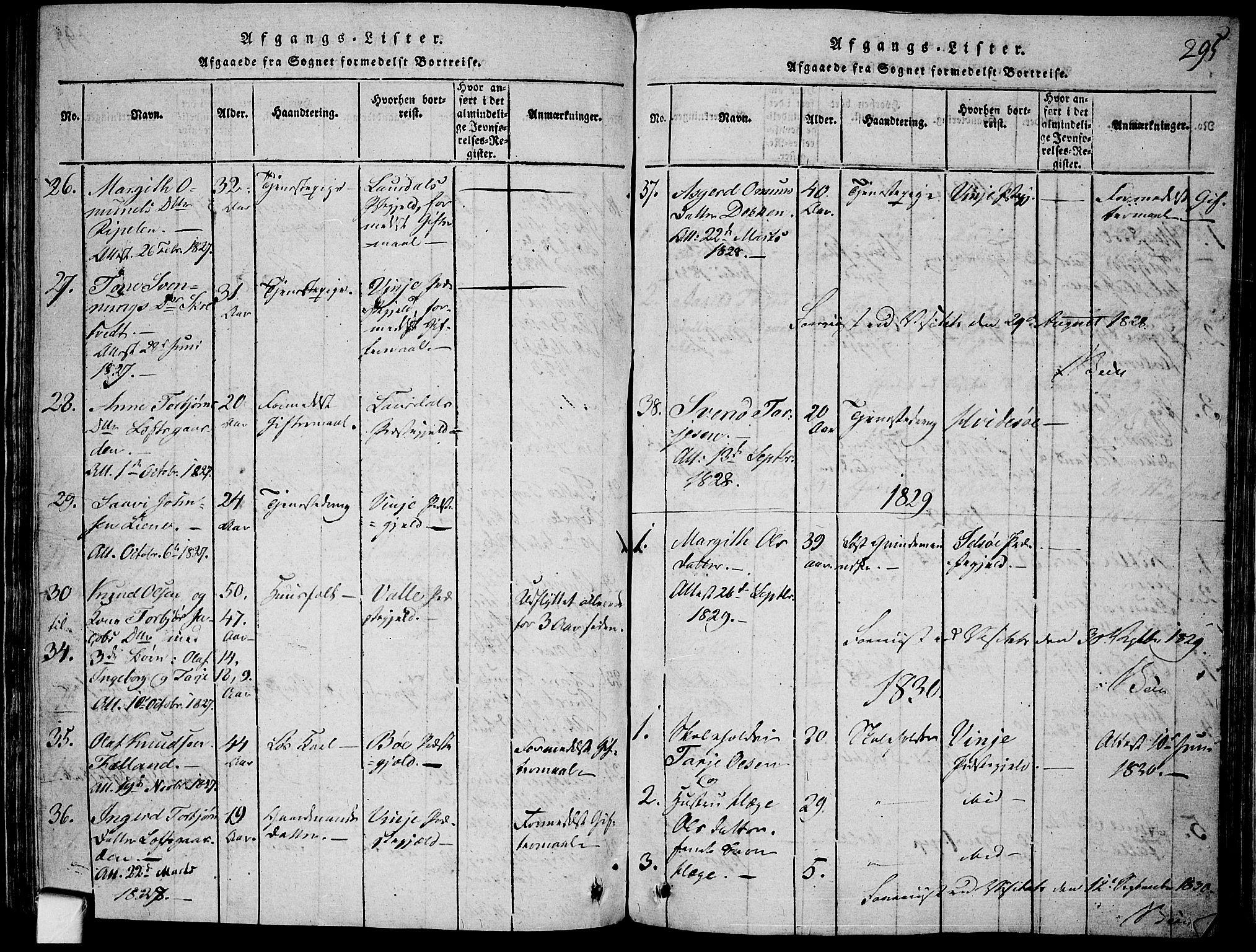 SAKO, Mo kirkebøker, F/Fa/L0004: Ministerialbok nr. I 4, 1814-1844, s. 295