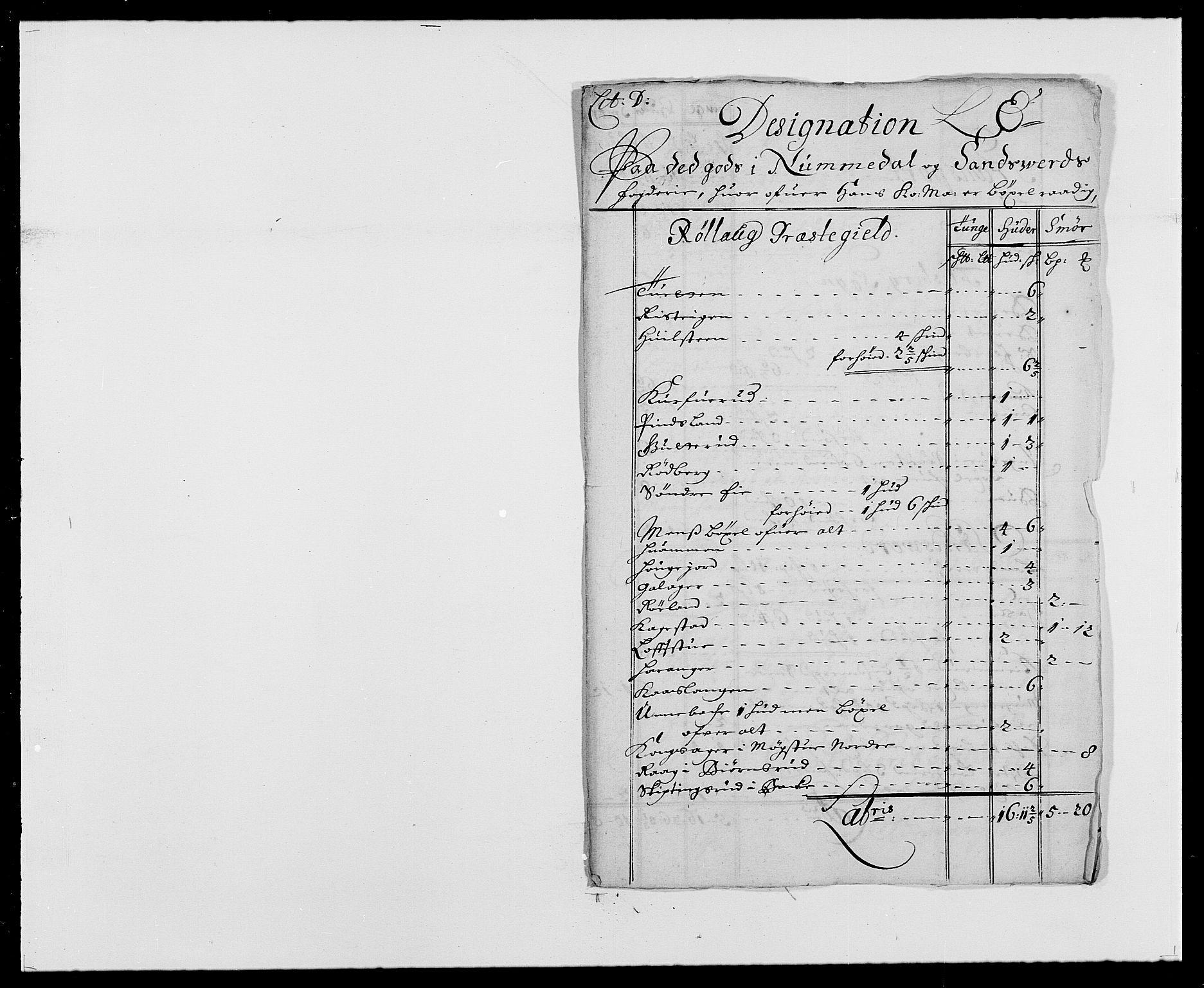 RA, Rentekammeret inntil 1814, Reviderte regnskaper, Fogderegnskap, R24/L1573: Fogderegnskap Numedal og Sandsvær, 1687-1691, s. 288