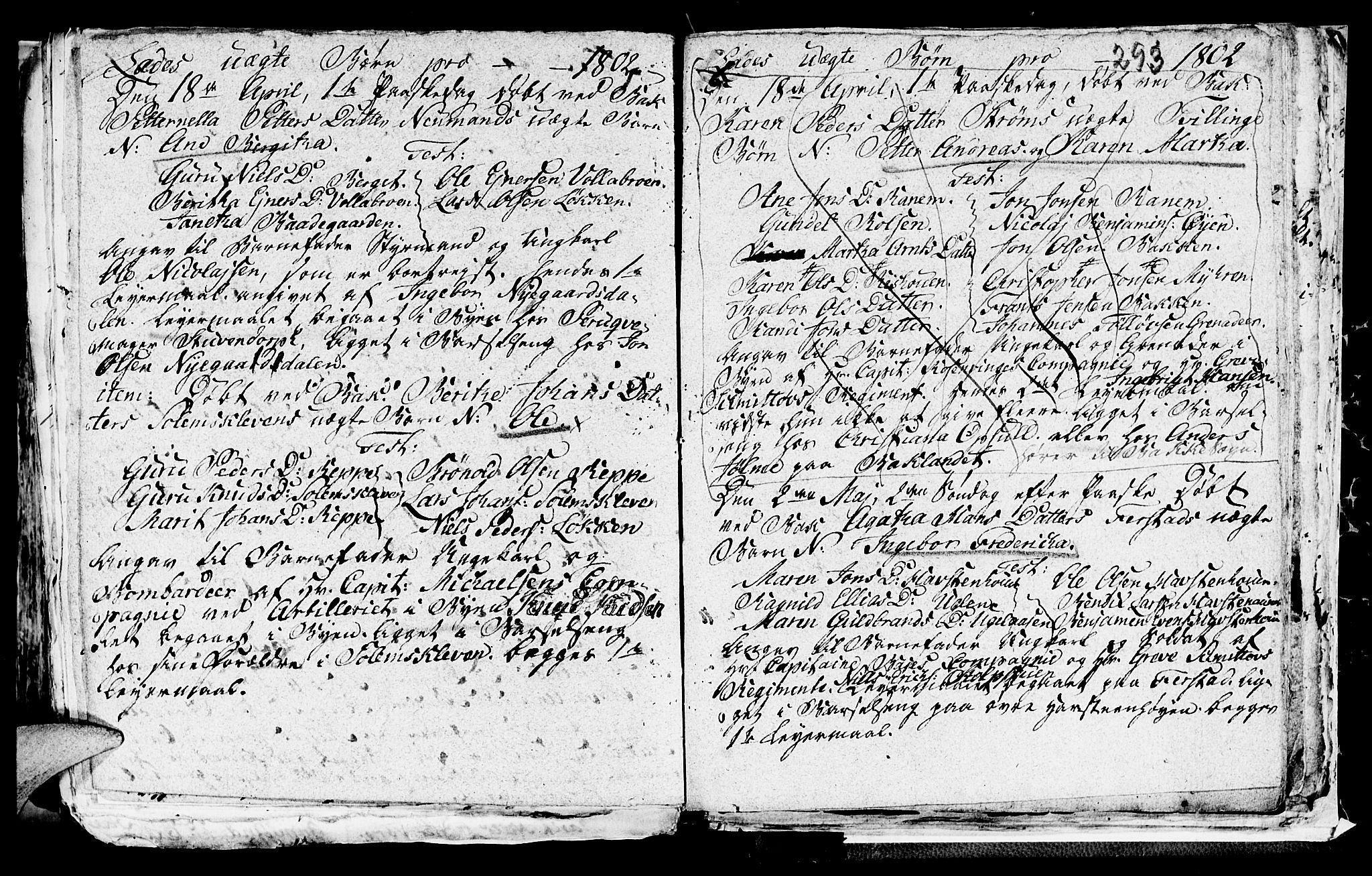 SAT, Ministerialprotokoller, klokkerbøker og fødselsregistre - Sør-Trøndelag, 606/L0305: Klokkerbok nr. 606C01, 1757-1819, s. 293