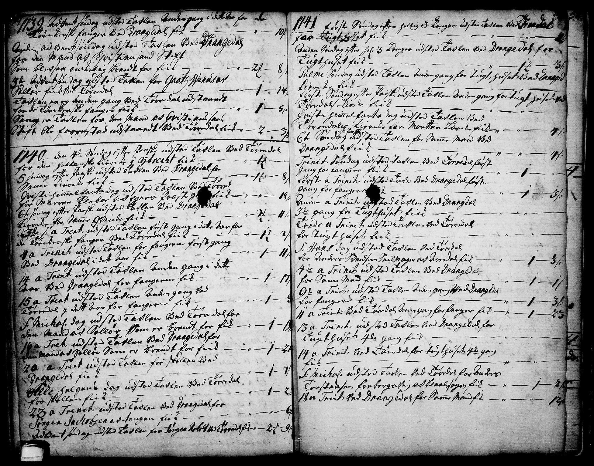 SAKO, Drangedal kirkebøker, F/Fa/L0002: Ministerialbok nr. 2, 1733-1753, s. 49-50