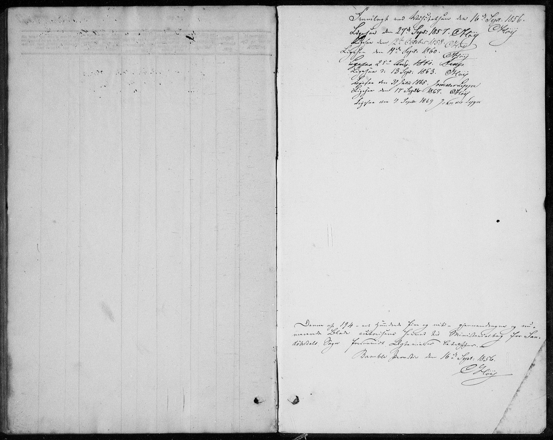 SAKO, Sannidal kirkebøker, F/Fa/L0010: Ministerialbok nr. 10, 1855-1873