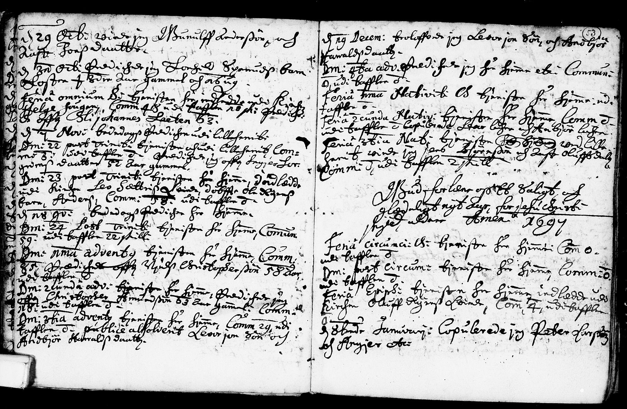 SAKO, Heddal kirkebøker, F/Fa/L0001: Ministerialbok nr. I 1, 1648-1699, s. 53