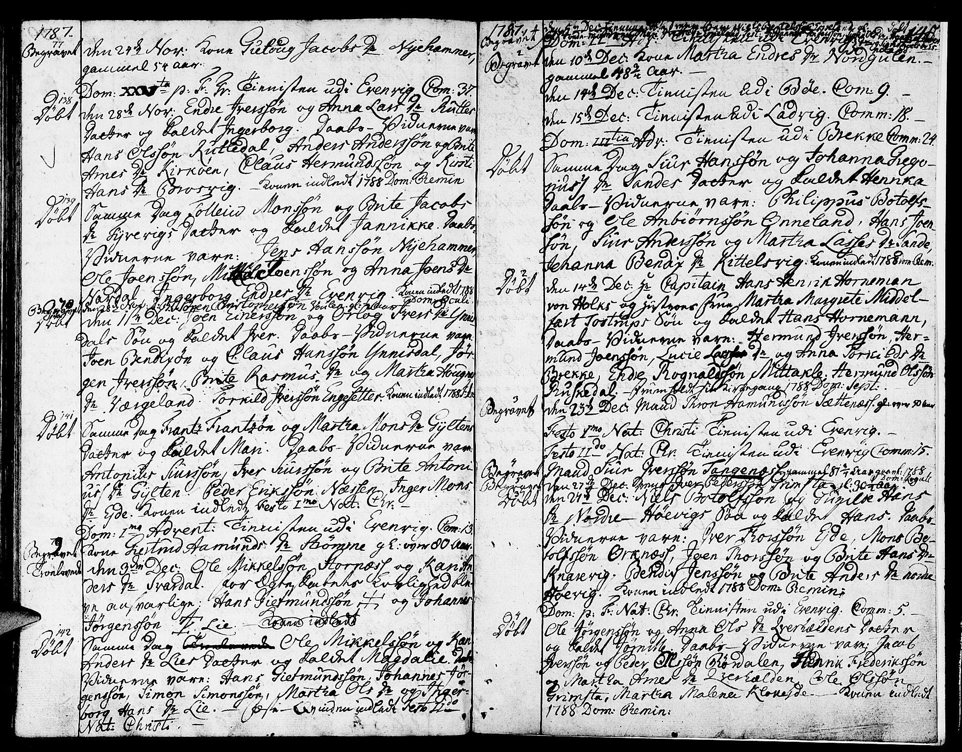 SAB, Gulen sokneprestembete, Ministerialbok nr. A 13, 1776-1787, s. 140