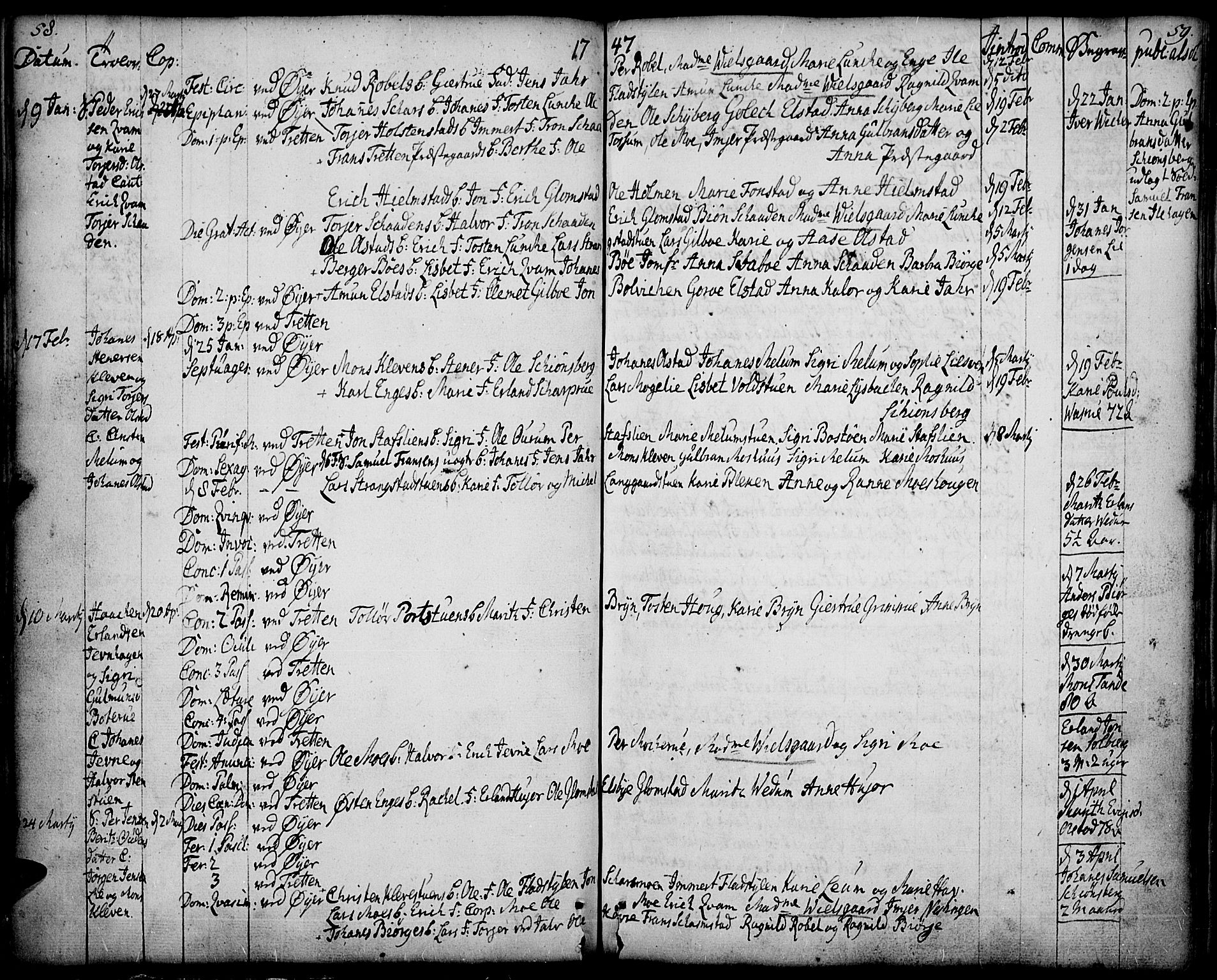 SAH, Øyer prestekontor, Ministerialbok nr. 2, 1733-1784, s. 58-59
