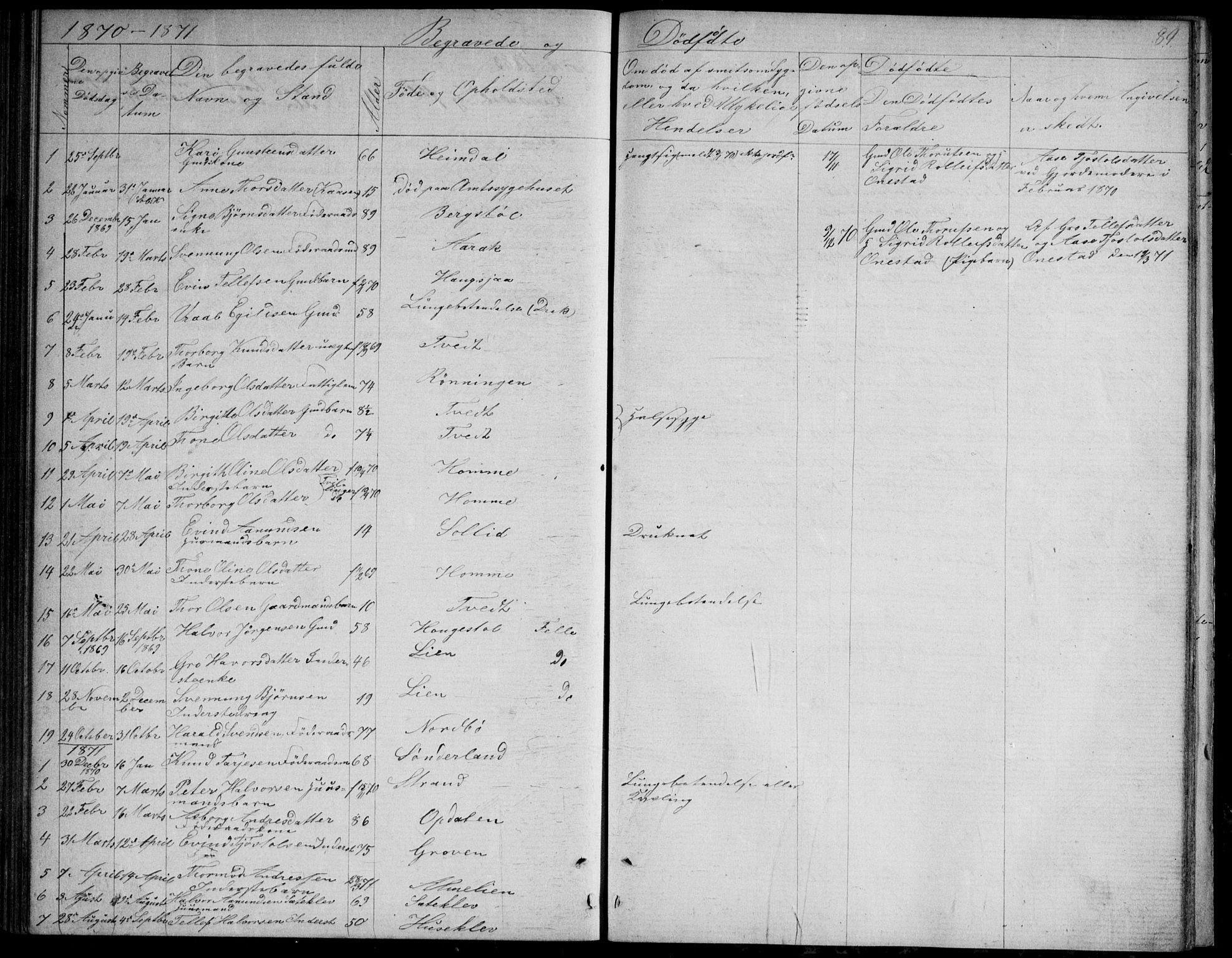 SAKO, Nissedal kirkebøker, G/Gb/L0002: Klokkerbok nr. II 2, 1863-1892, s. 89