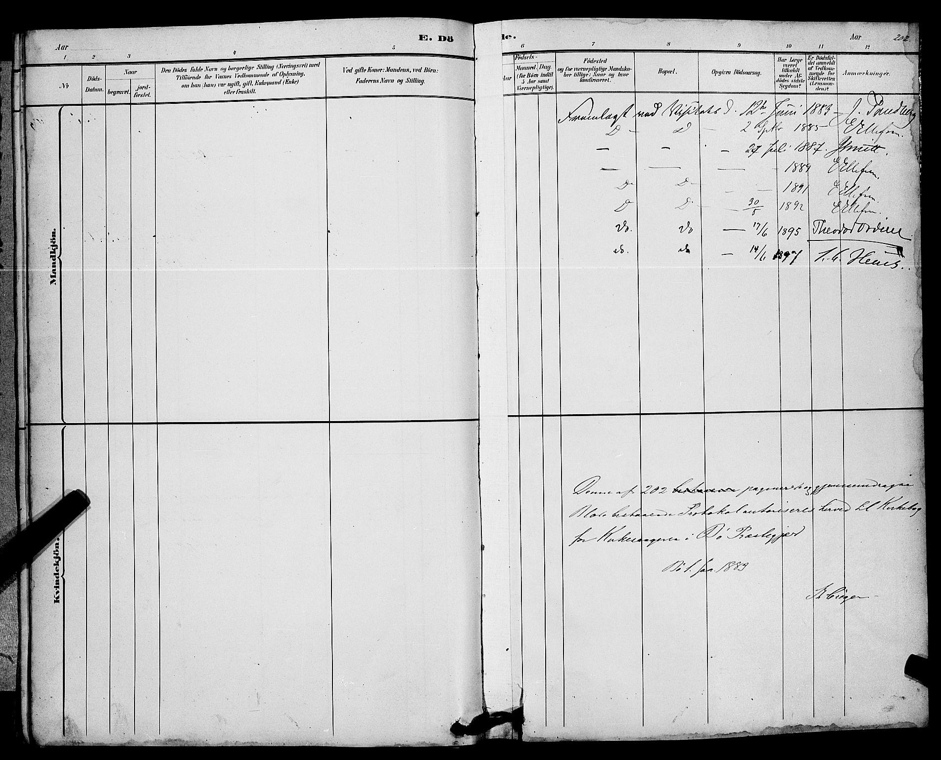 SAKO, Bø kirkebøker, G/Ga/L0005: Klokkerbok nr. 5, 1883-1897, s. 202