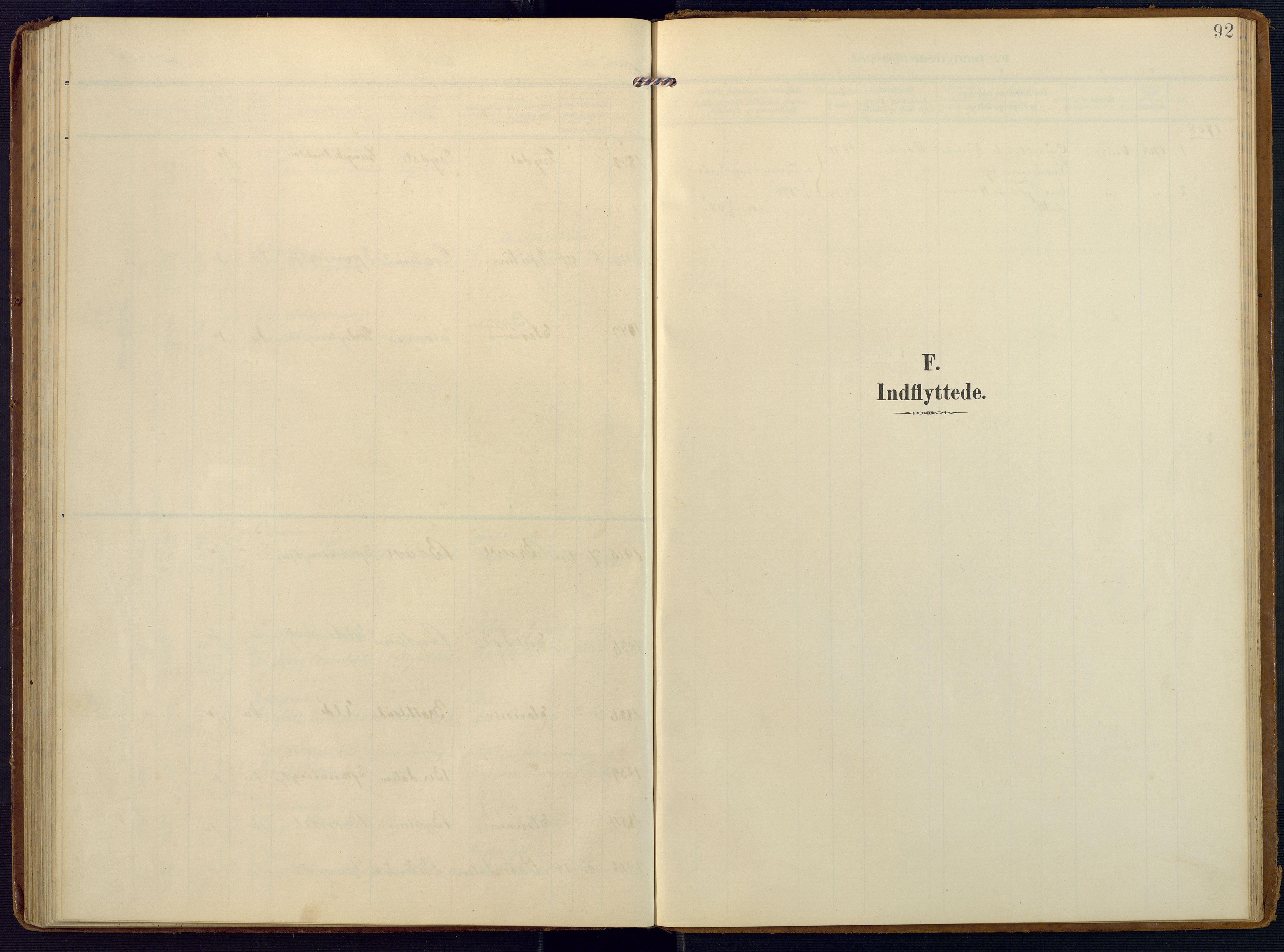 SAK, Valle sokneprestkontor, F/Fa/Faa/L0002: Ministerialbok nr. A 2, 1907-1919, s. 92
