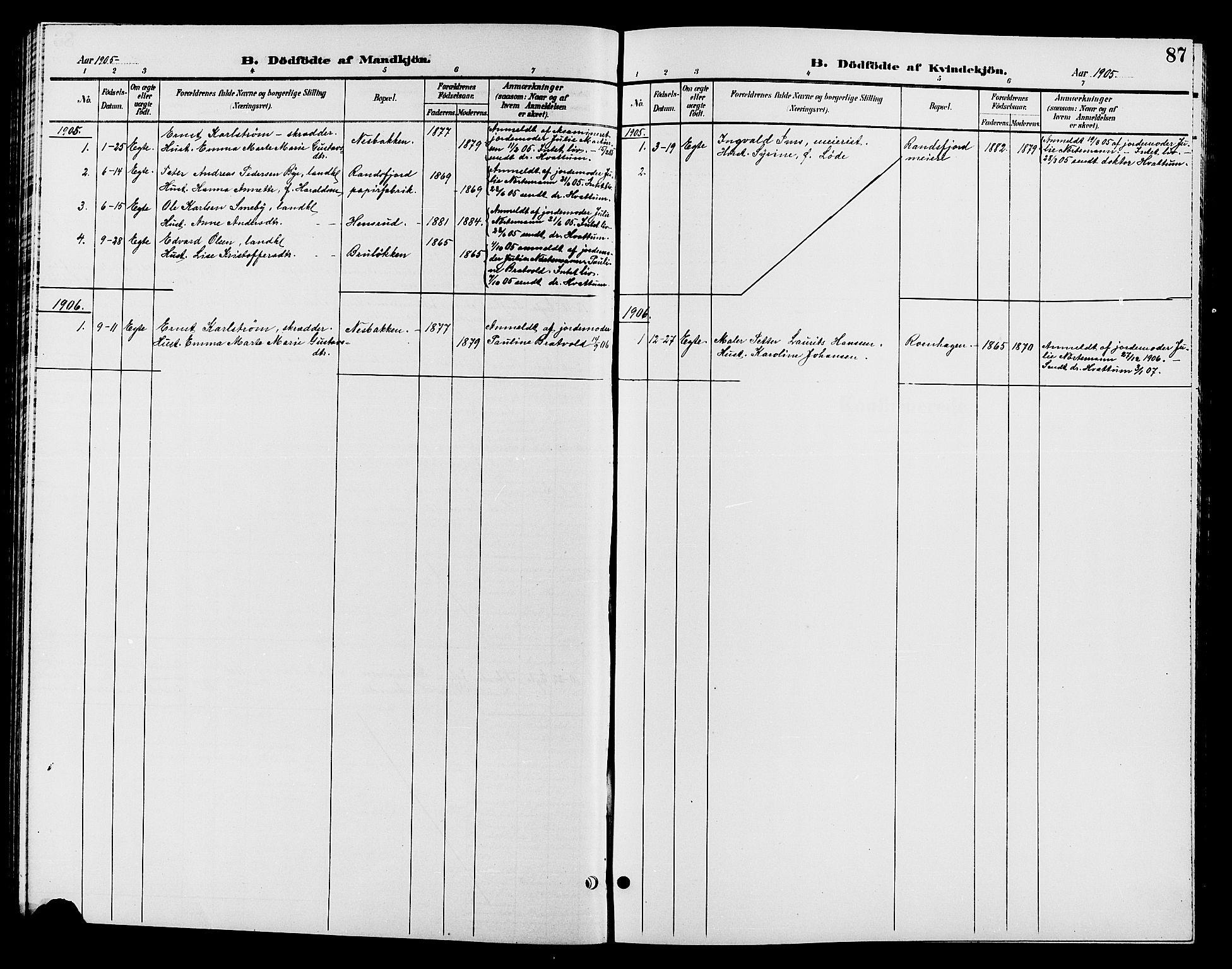 SAH, Jevnaker prestekontor, Klokkerbok nr. 2, 1896-1906, s. 87