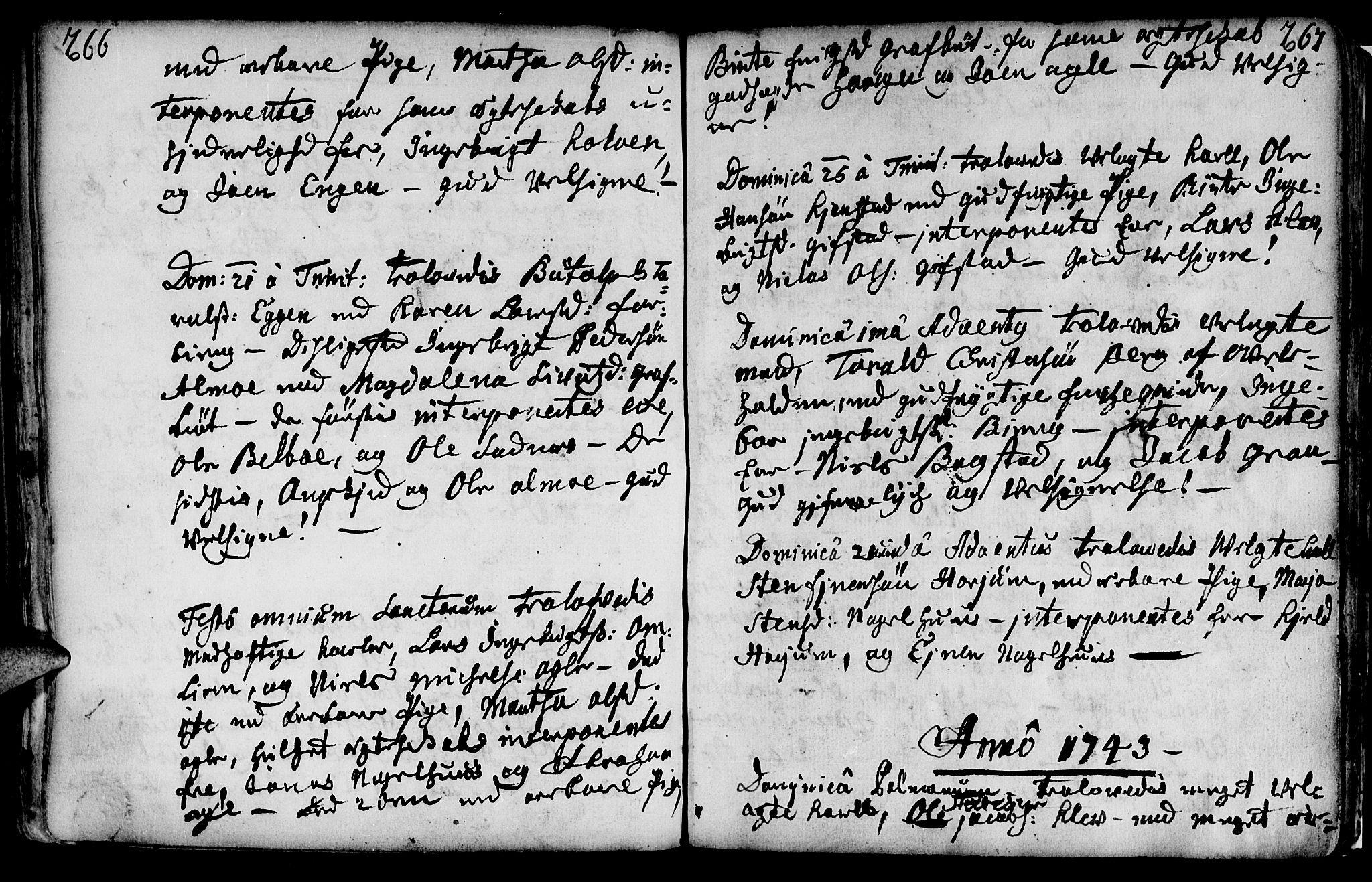 SAT, Ministerialprotokoller, klokkerbøker og fødselsregistre - Nord-Trøndelag, 749/L0467: Ministerialbok nr. 749A01, 1733-1787, s. 266-267