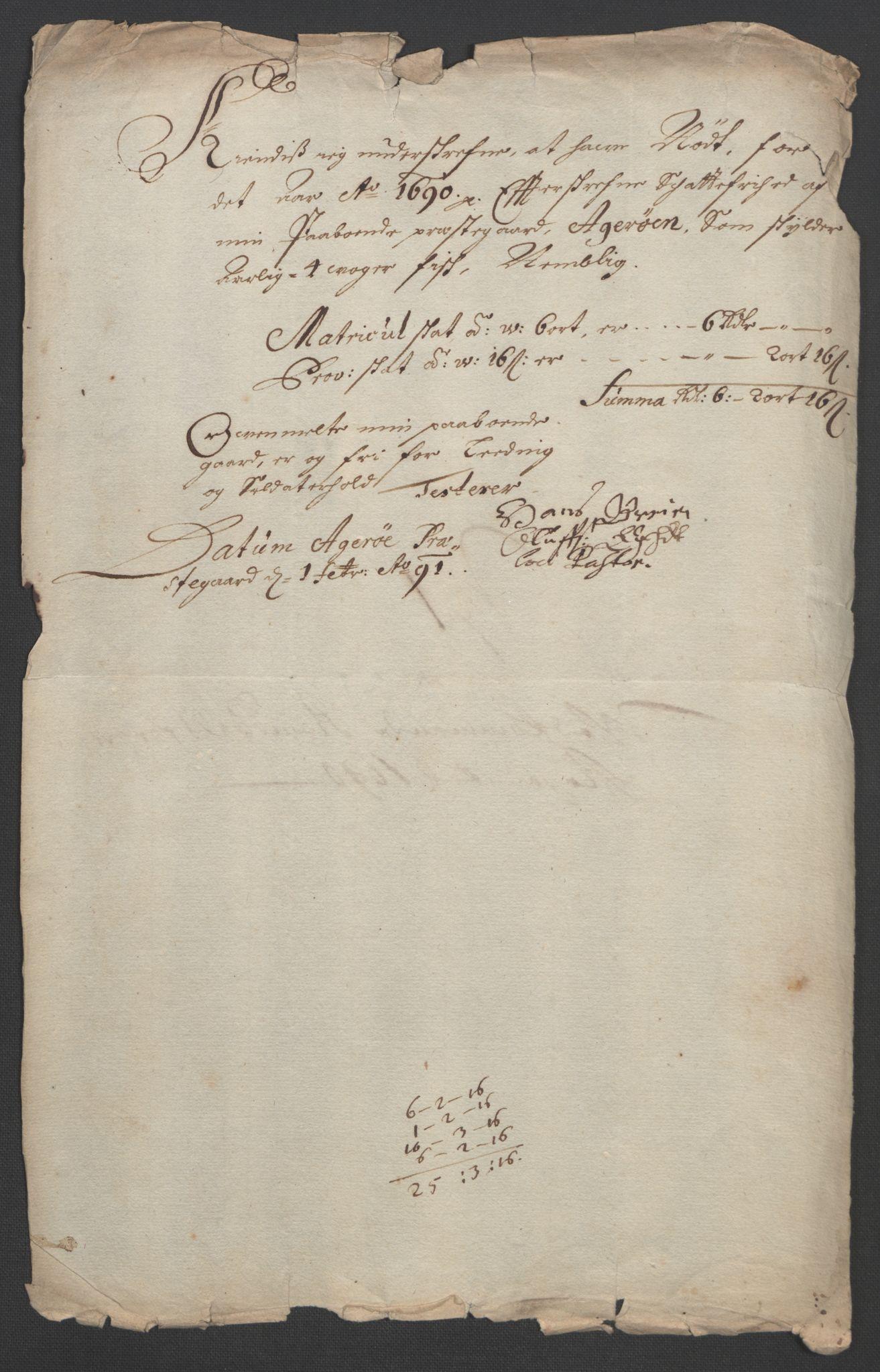 RA, Rentekammeret inntil 1814, Reviderte regnskaper, Fogderegnskap, R55/L3649: Fogderegnskap Romsdal, 1690-1691, s. 162