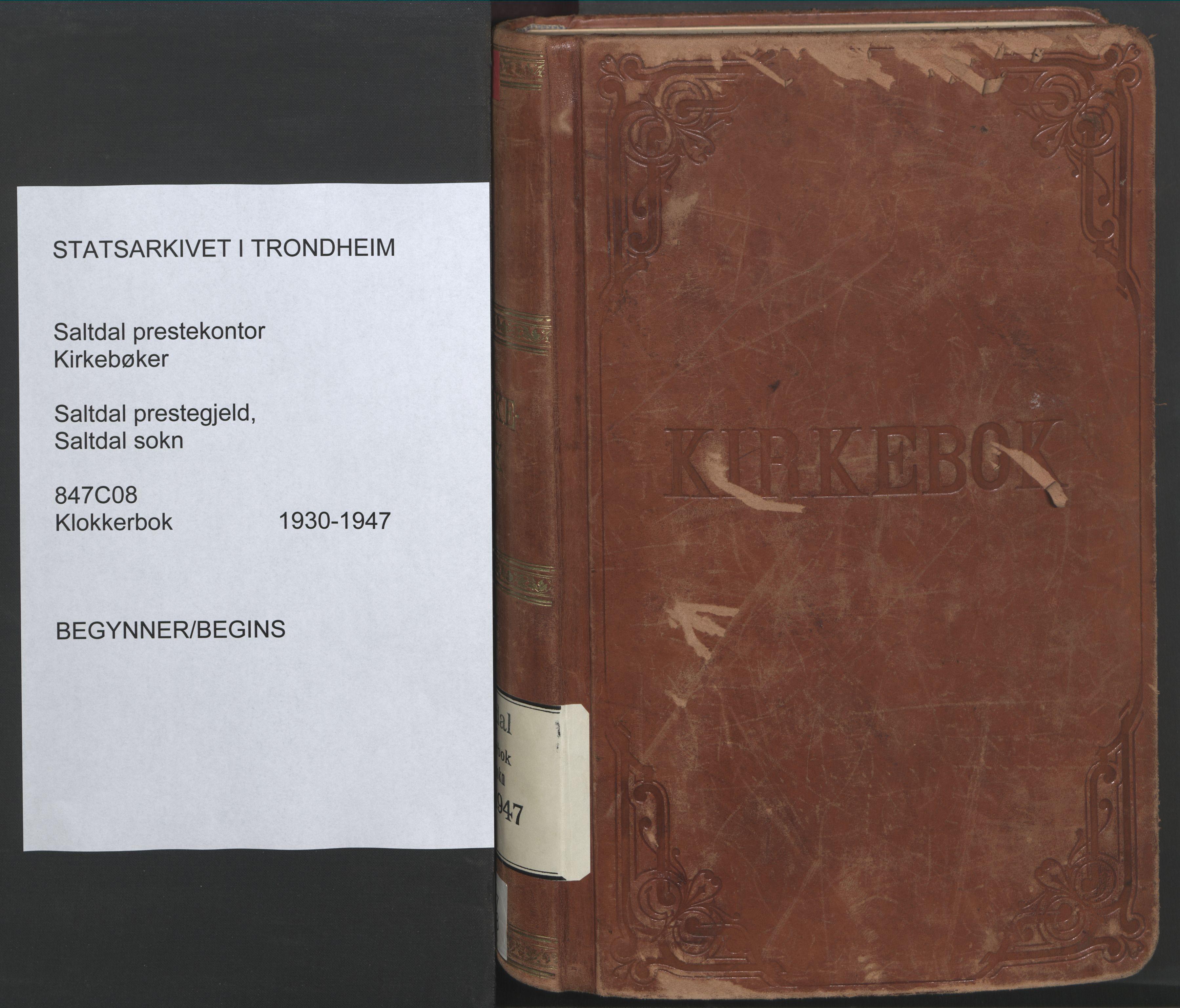 SAT, Ministerialprotokoller, klokkerbøker og fødselsregistre - Nordland, 847/L0680: Klokkerbok nr. 847C08, 1930-1947