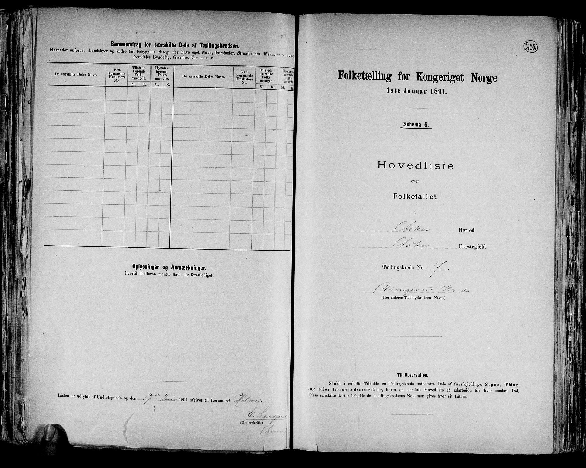 RA, Folketelling 1891 for 0220 Asker herred, 1891, s. 23