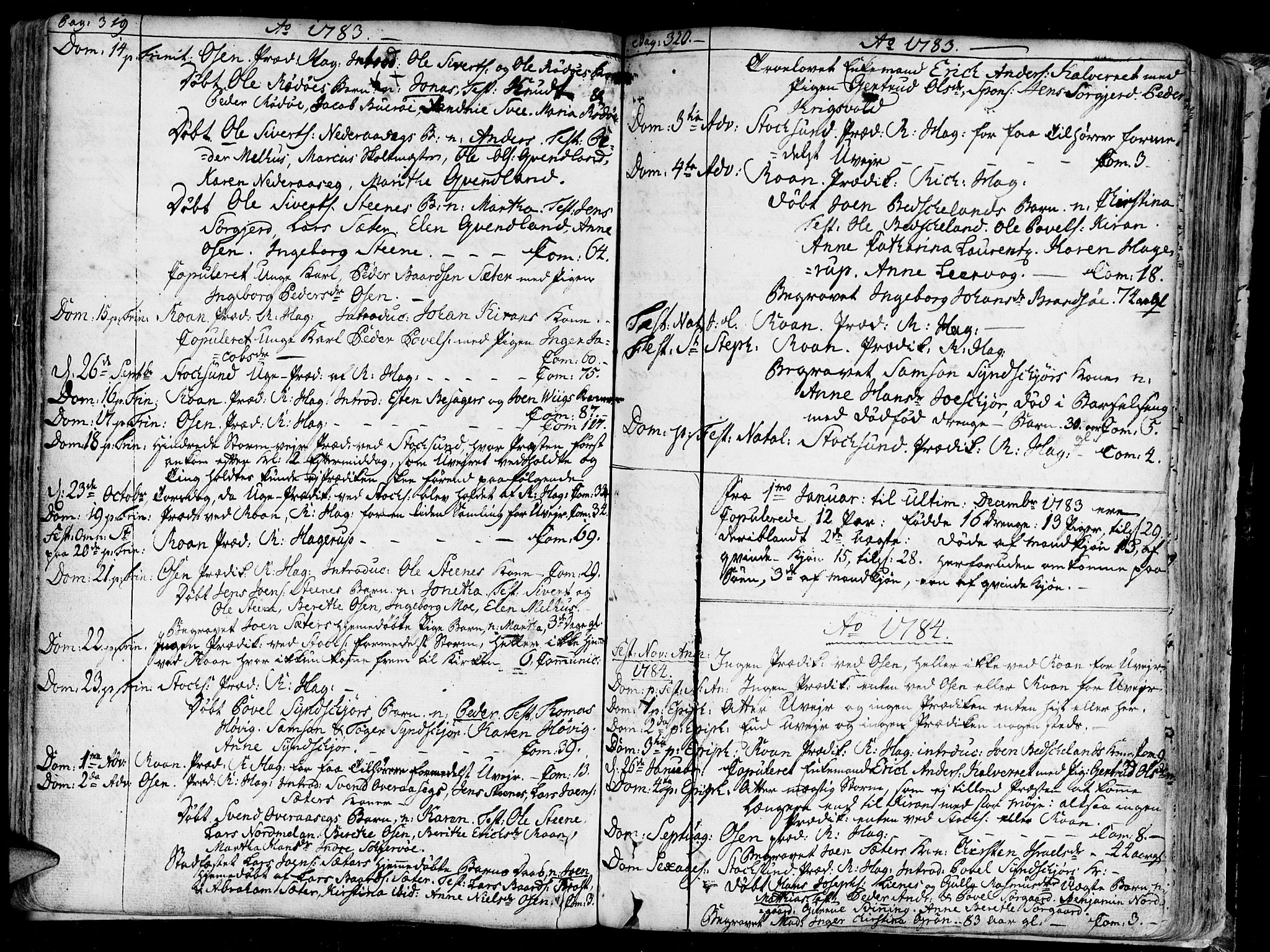 SAT, Ministerialprotokoller, klokkerbøker og fødselsregistre - Sør-Trøndelag, 657/L0700: Ministerialbok nr. 657A01, 1732-1801, s. 319-320