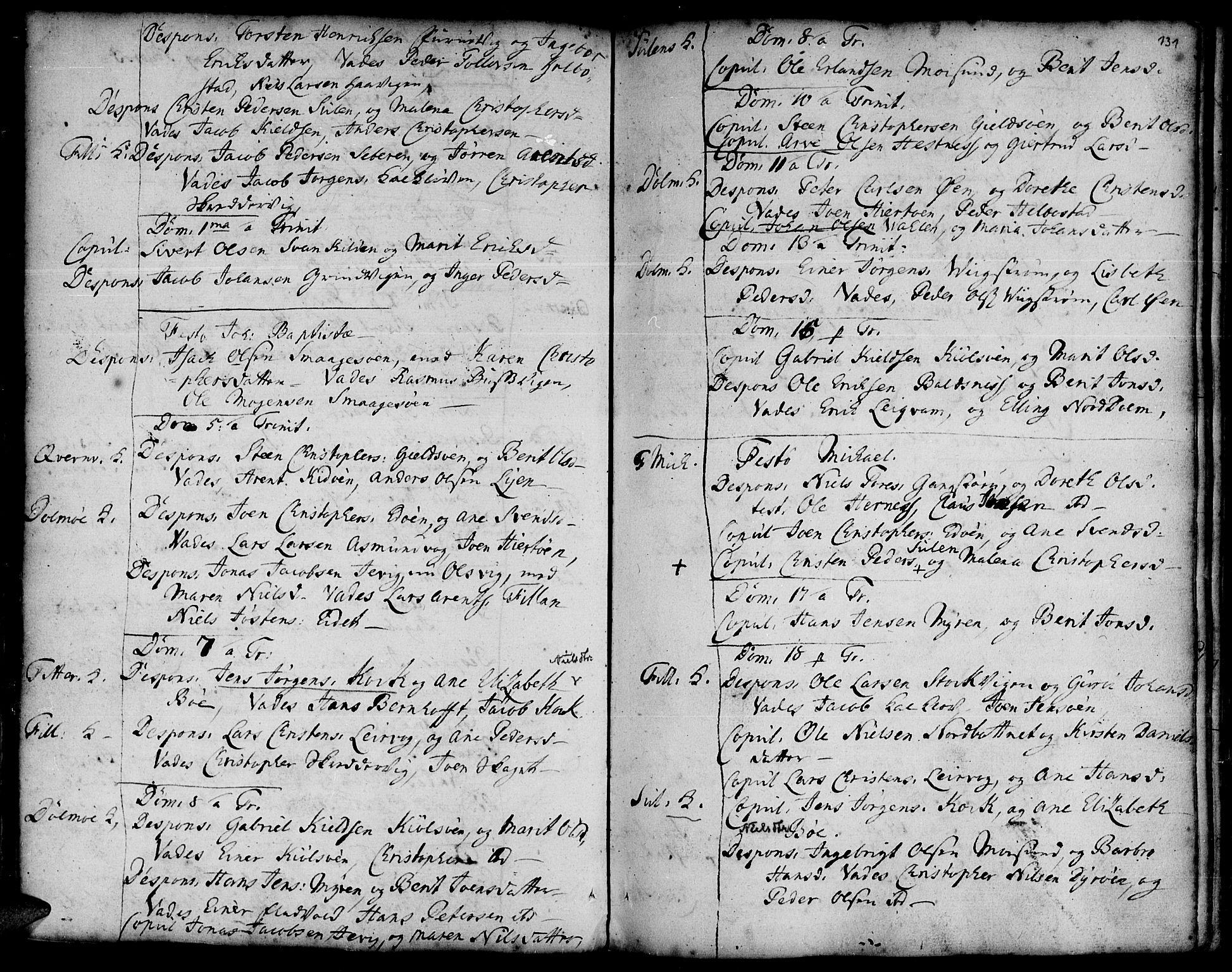 SAT, Ministerialprotokoller, klokkerbøker og fødselsregistre - Sør-Trøndelag, 634/L0525: Ministerialbok nr. 634A01, 1736-1775, s. 131