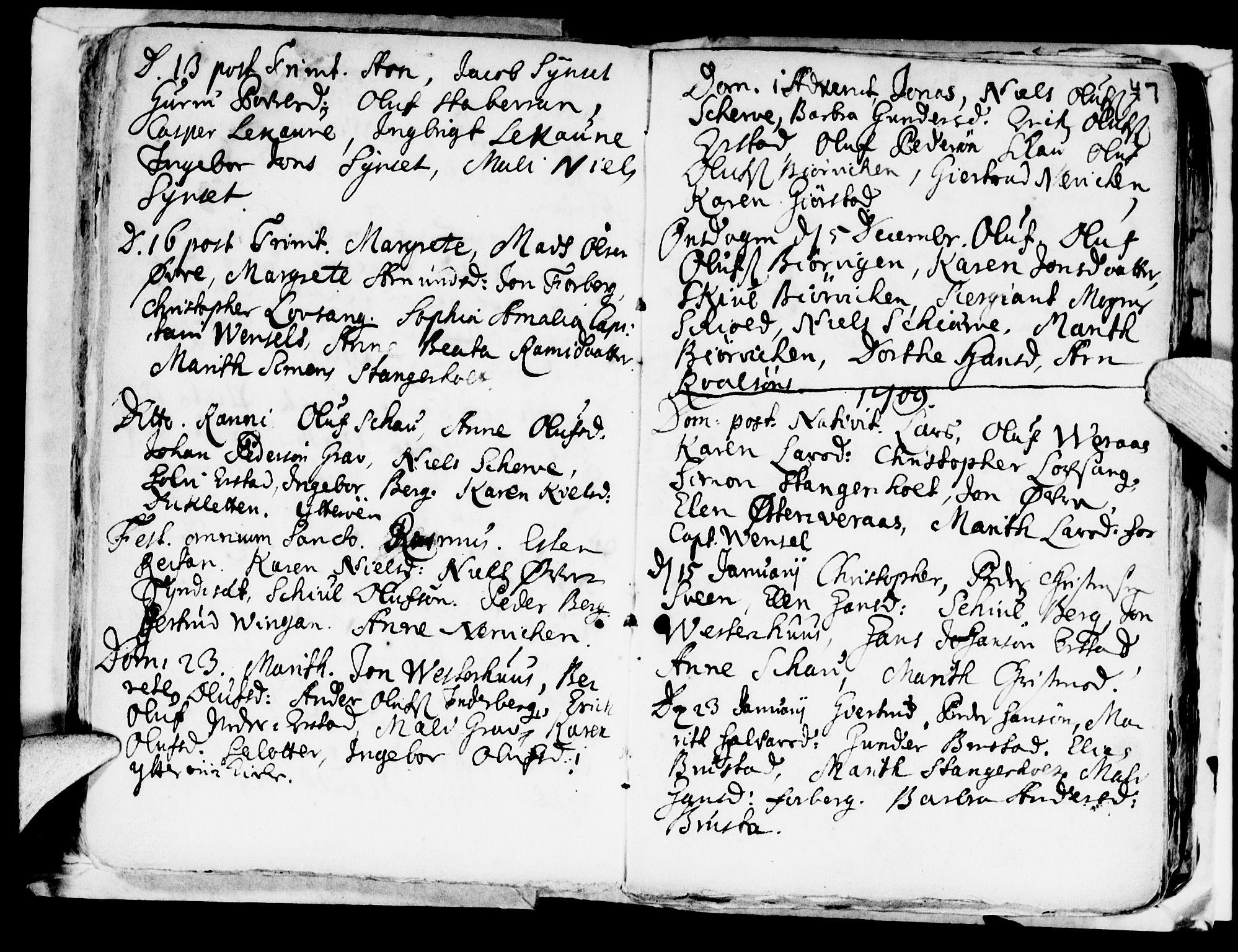 SAT, Ministerialprotokoller, klokkerbøker og fødselsregistre - Nord-Trøndelag, 722/L0214: Ministerialbok nr. 722A01, 1692-1718, s. 47